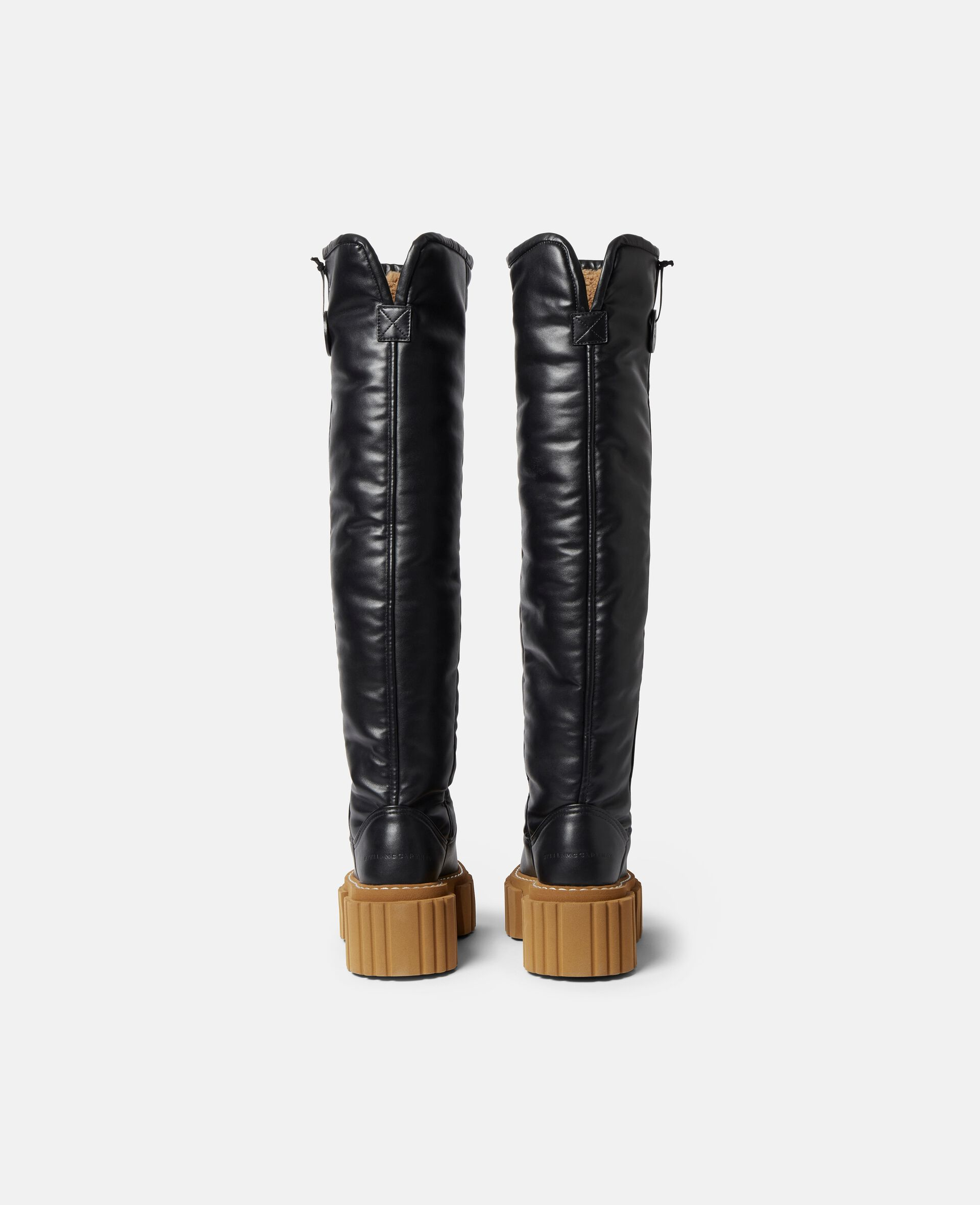 Over-The-Knee Emilie Teddy Boots-Black-large image number 2