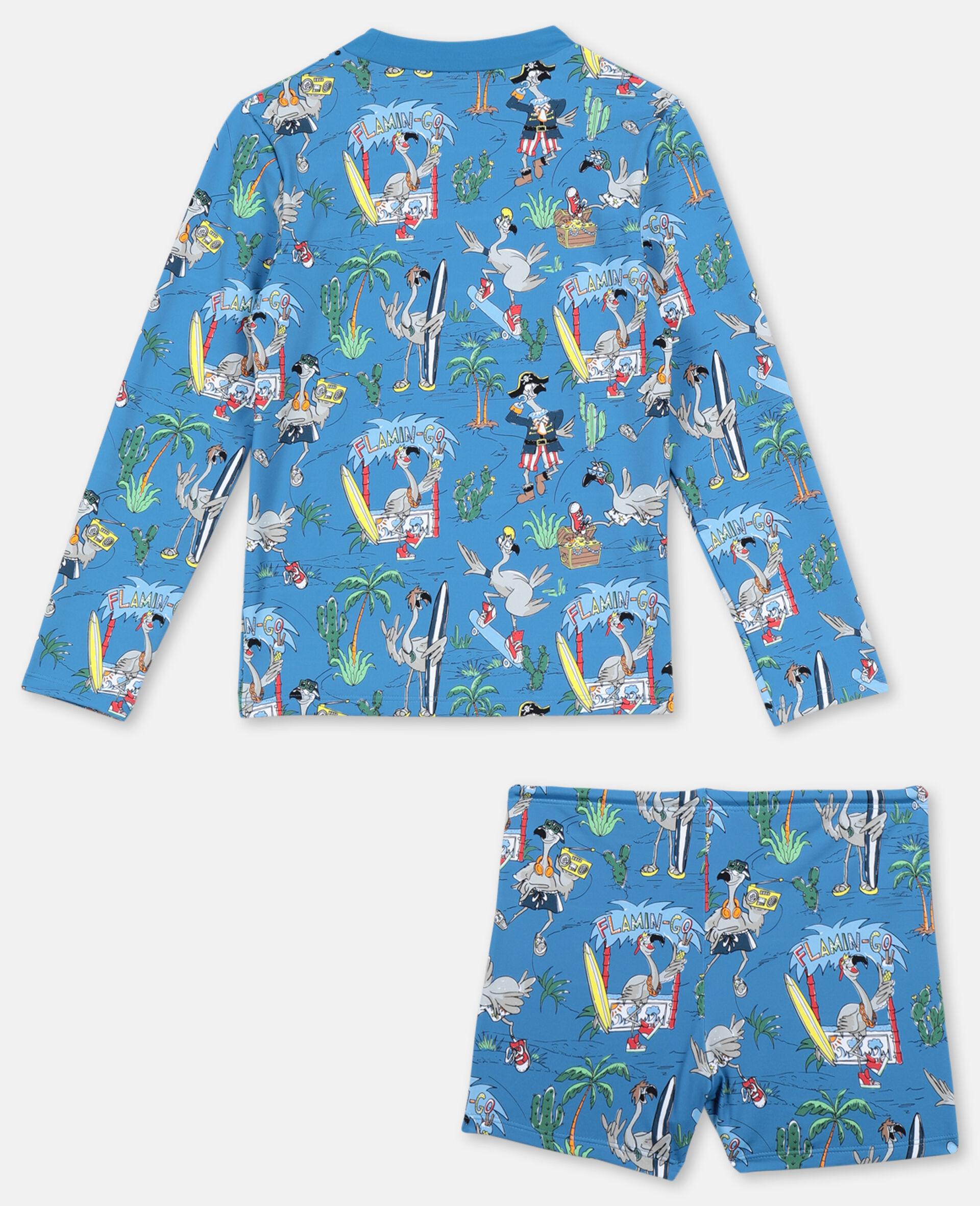 Flamingo Land Swim Set -Blue-large image number 4