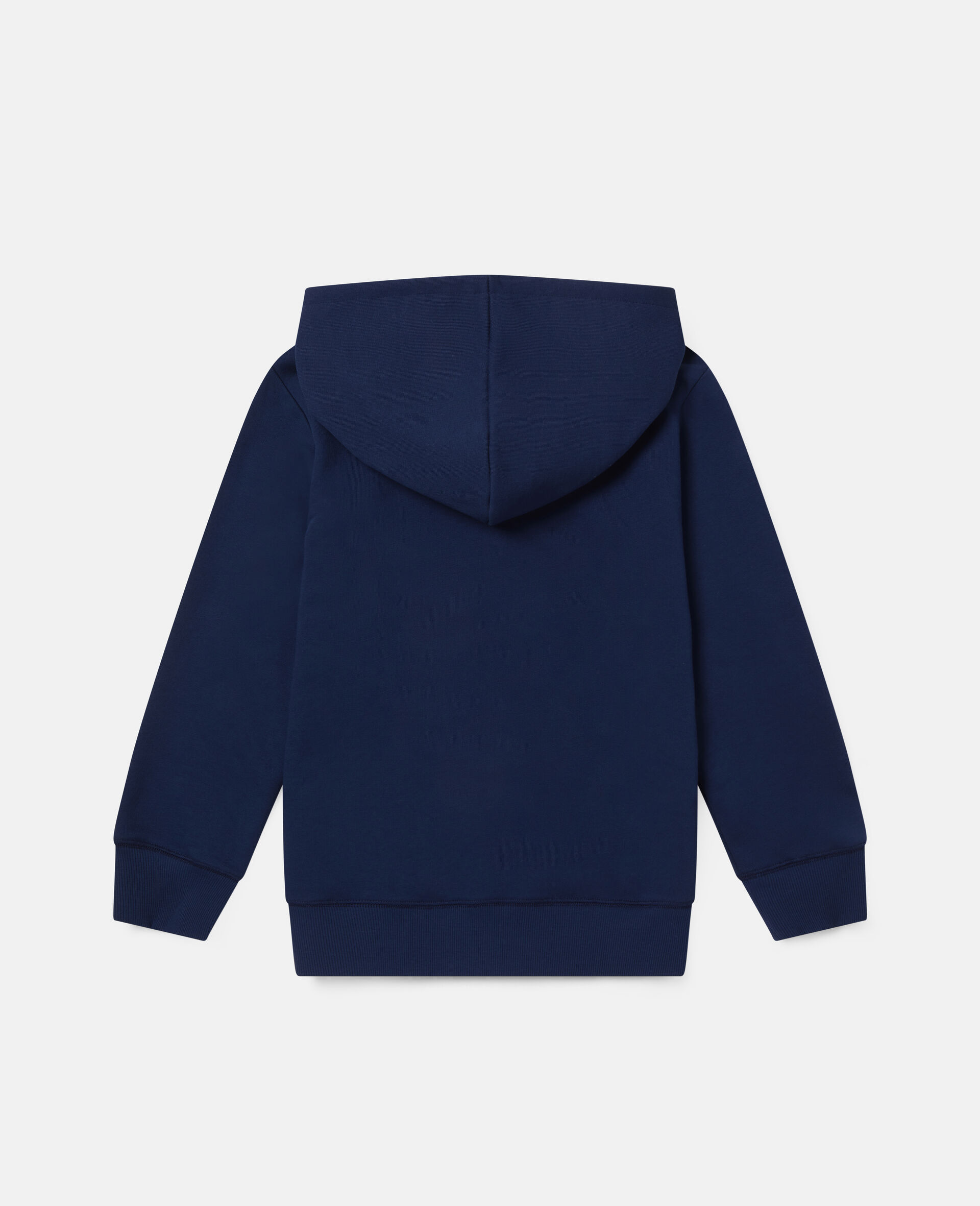 Sweat-shirt à capuche oversize motif pizza sur skateboard-Bleu-large image number 3