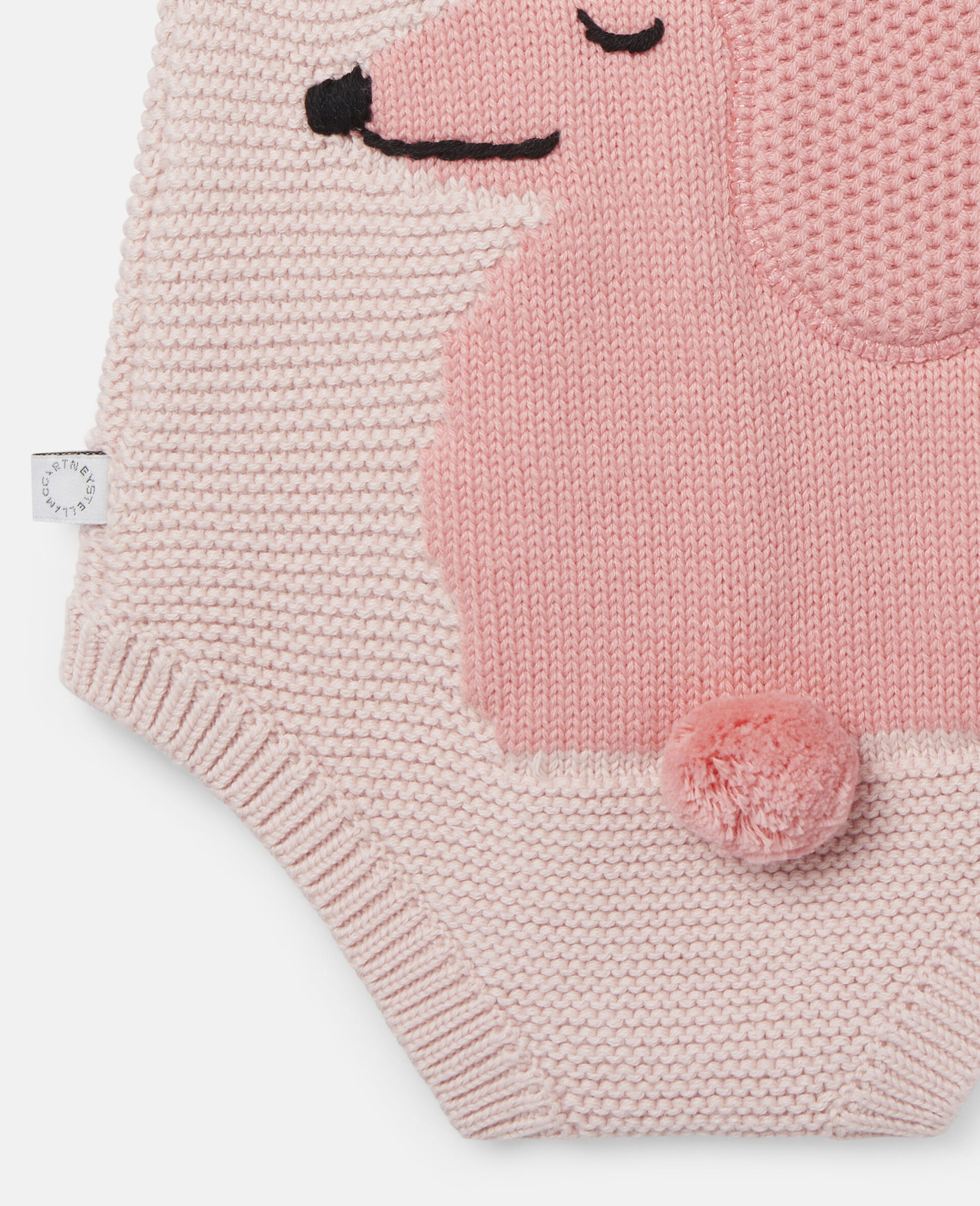 Poodle Knit Intarsia Body-Pink-large image number 2