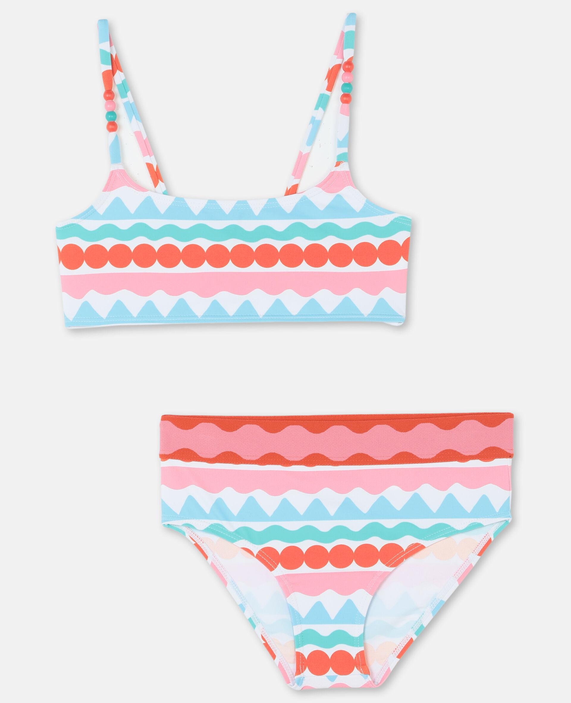 Bikini mit grafischen Streifen -Bunt-large image number 0