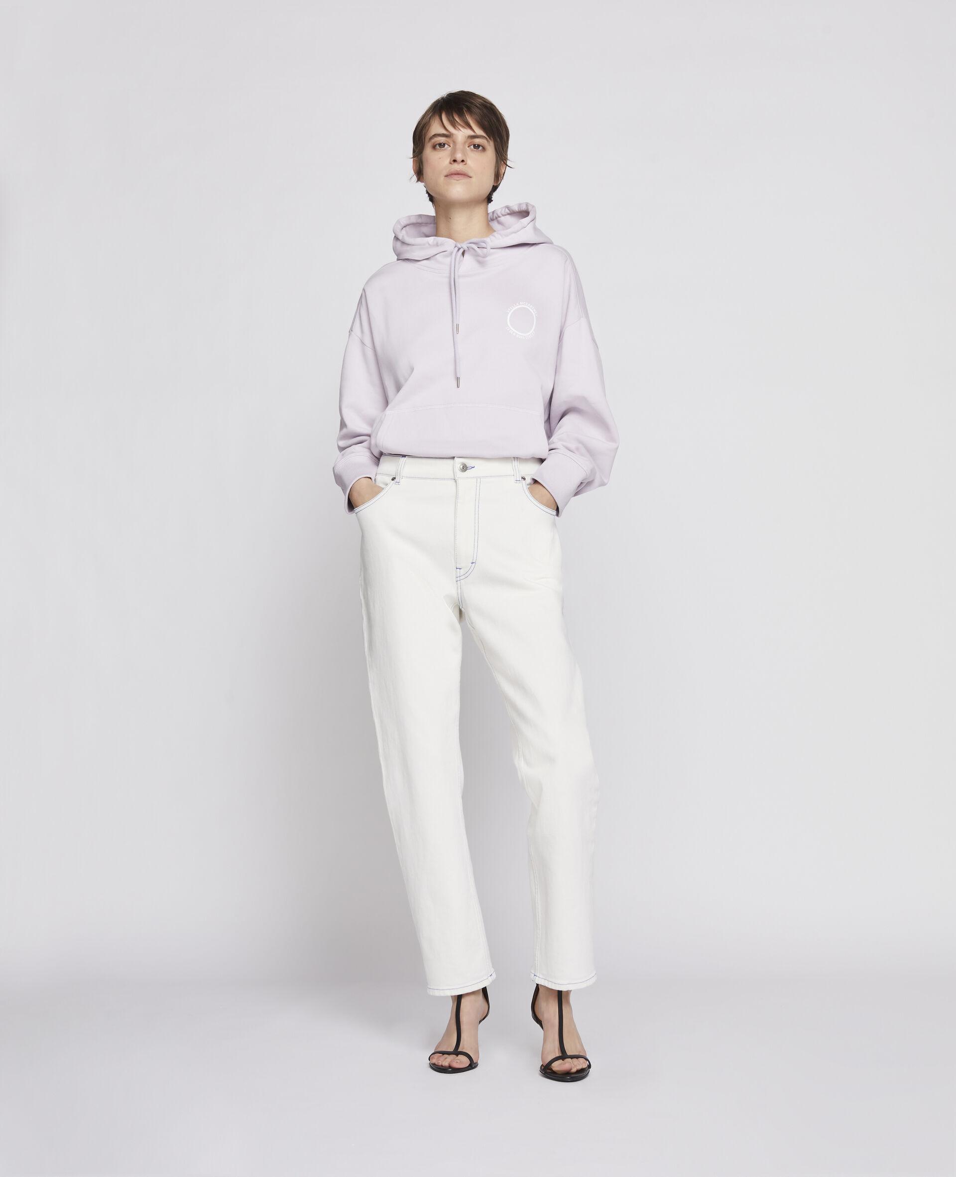 Sweat-shirt à capuche 23 OBS en coton biologique-Marron-large image number 1