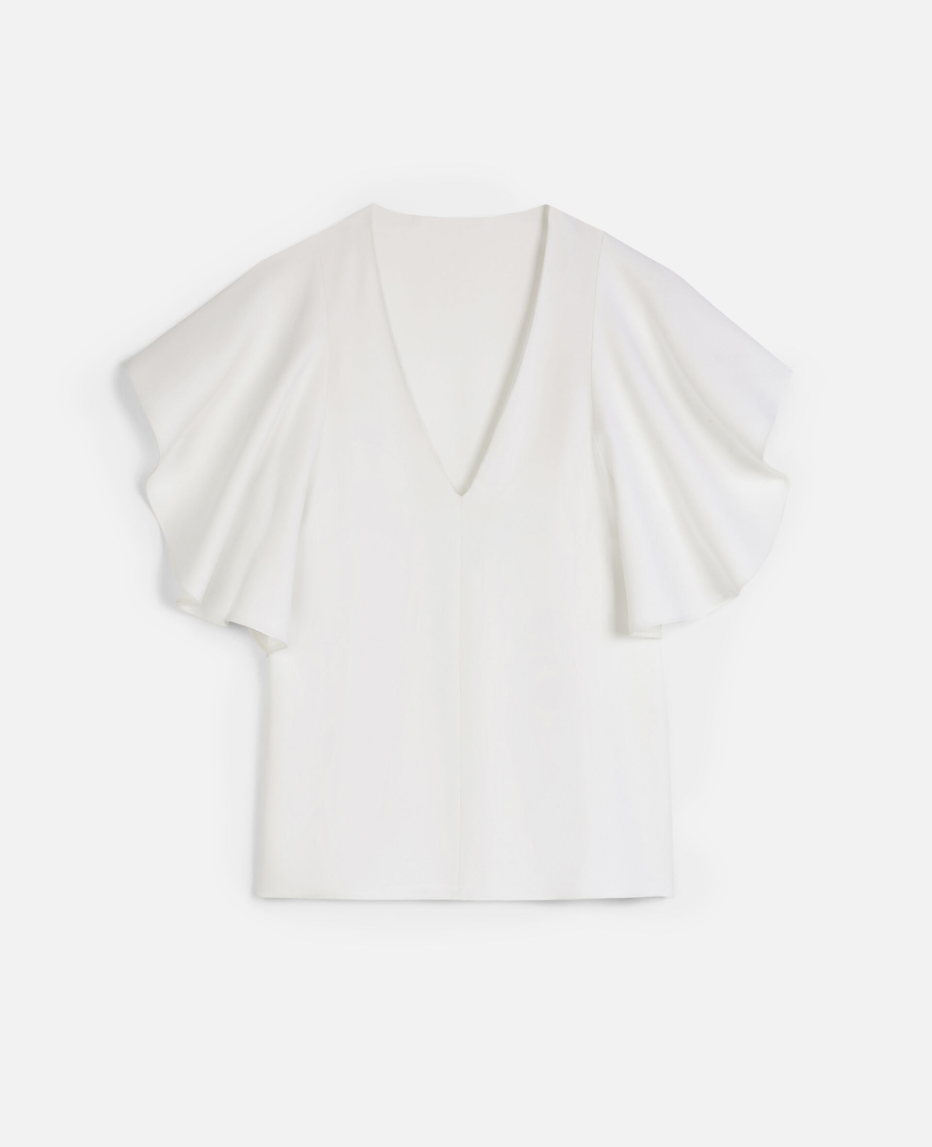 Mallory Stretch Cady Top-White-large image number 0
