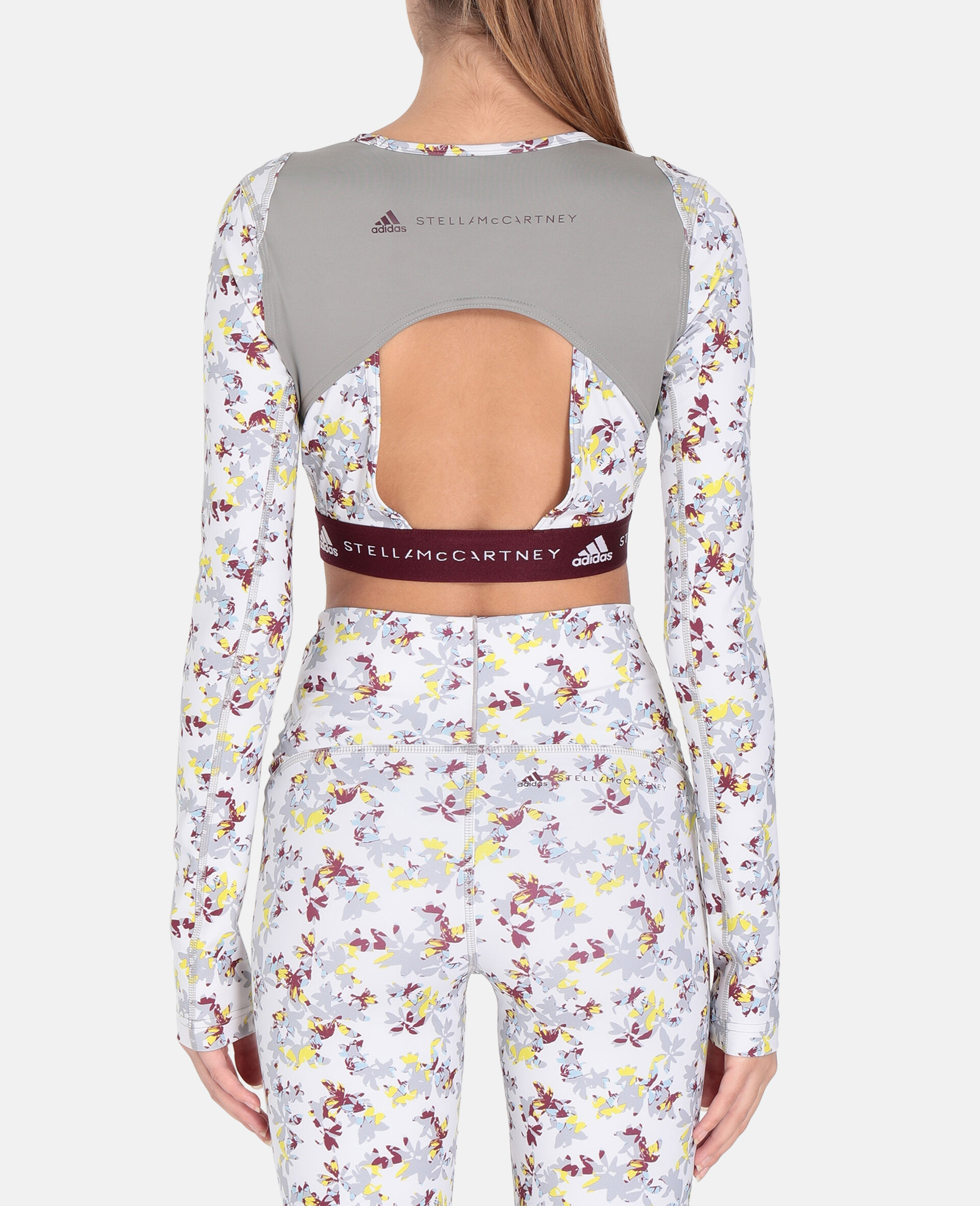 Future Playground Long-Sleeved Crop Top -White-large image number 2