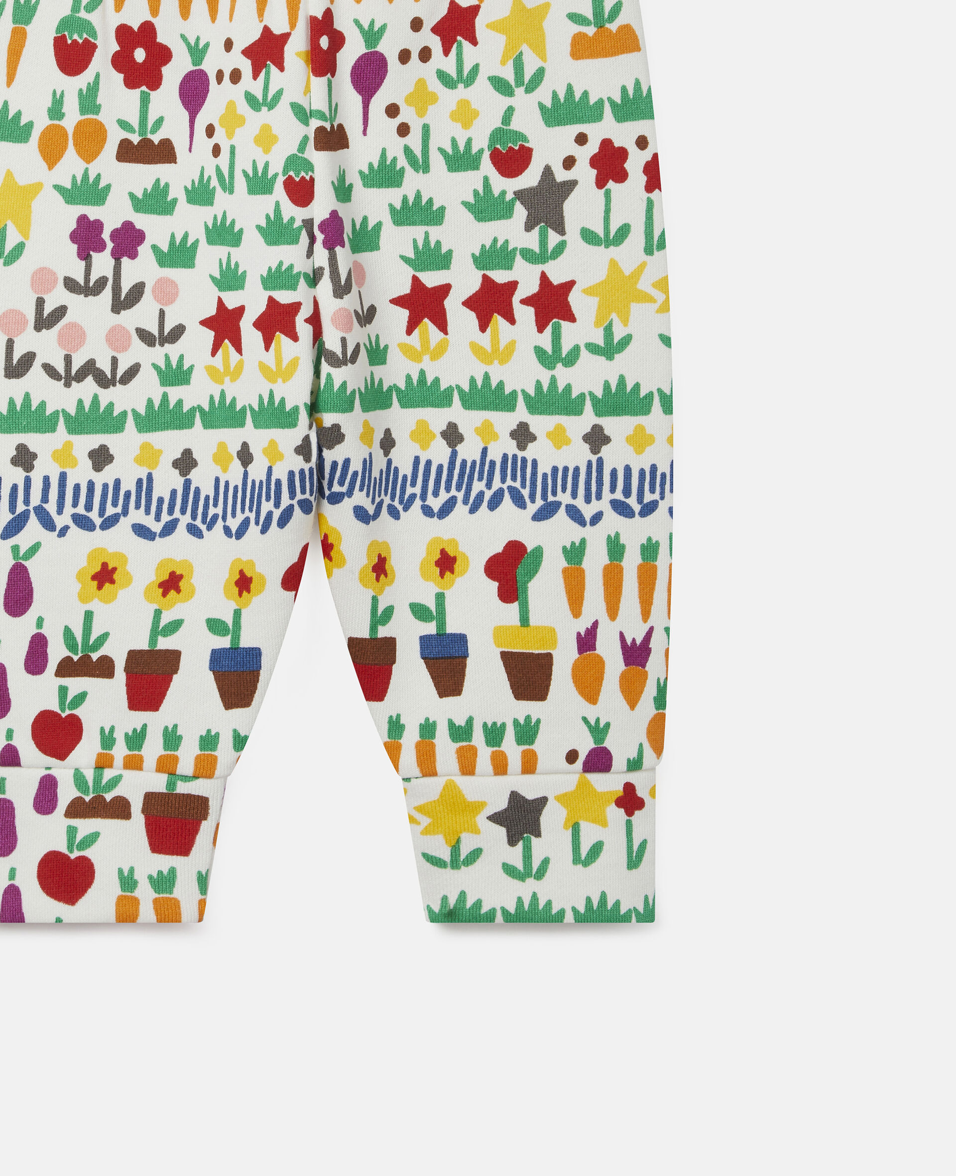 Garden Fleece Joggers-White-large image number 1