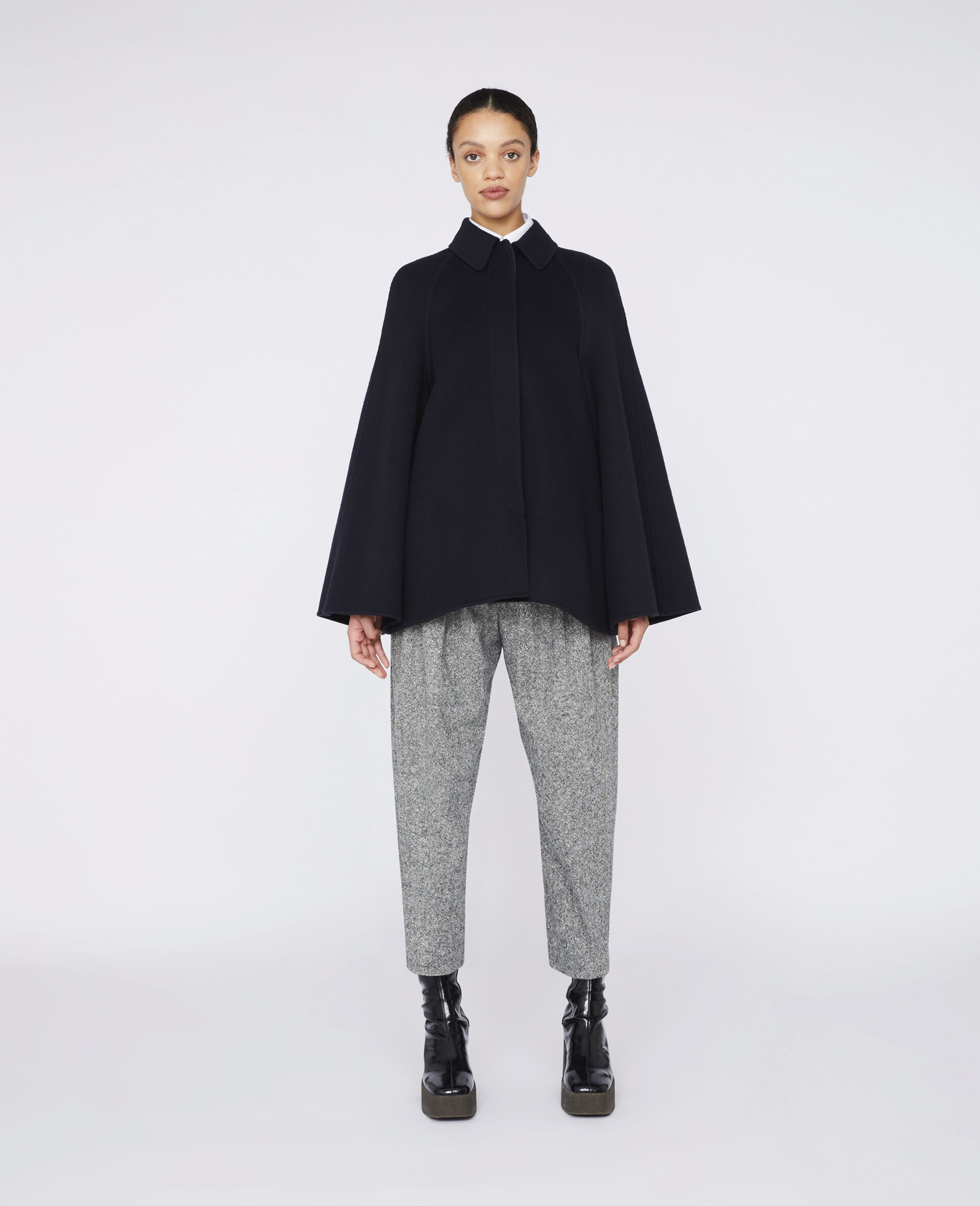 Wool Flannel Trousers -灰色-large image number 1