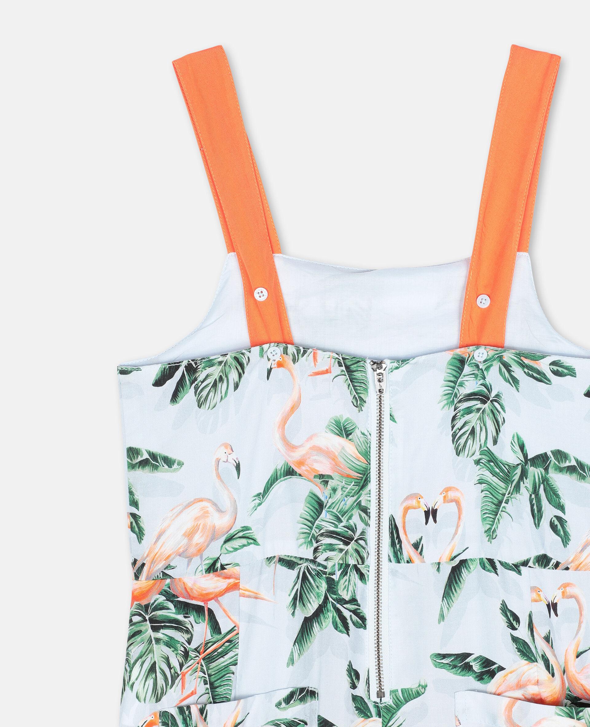 Painty Flamingo Viscose Jumpsuit-Green-large image number 2