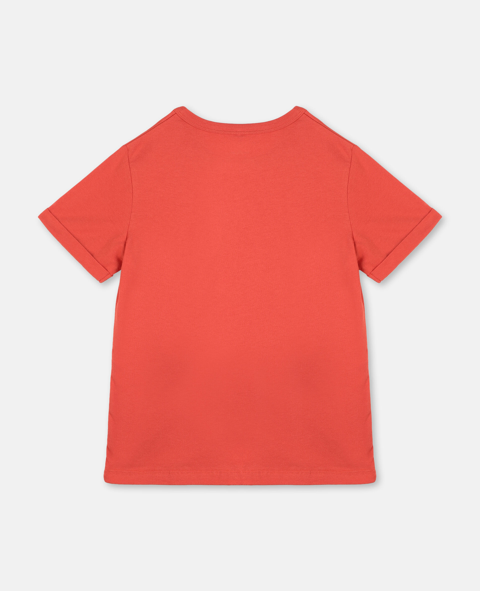 Logo Cotton T-shirt-Red-large image number 3
