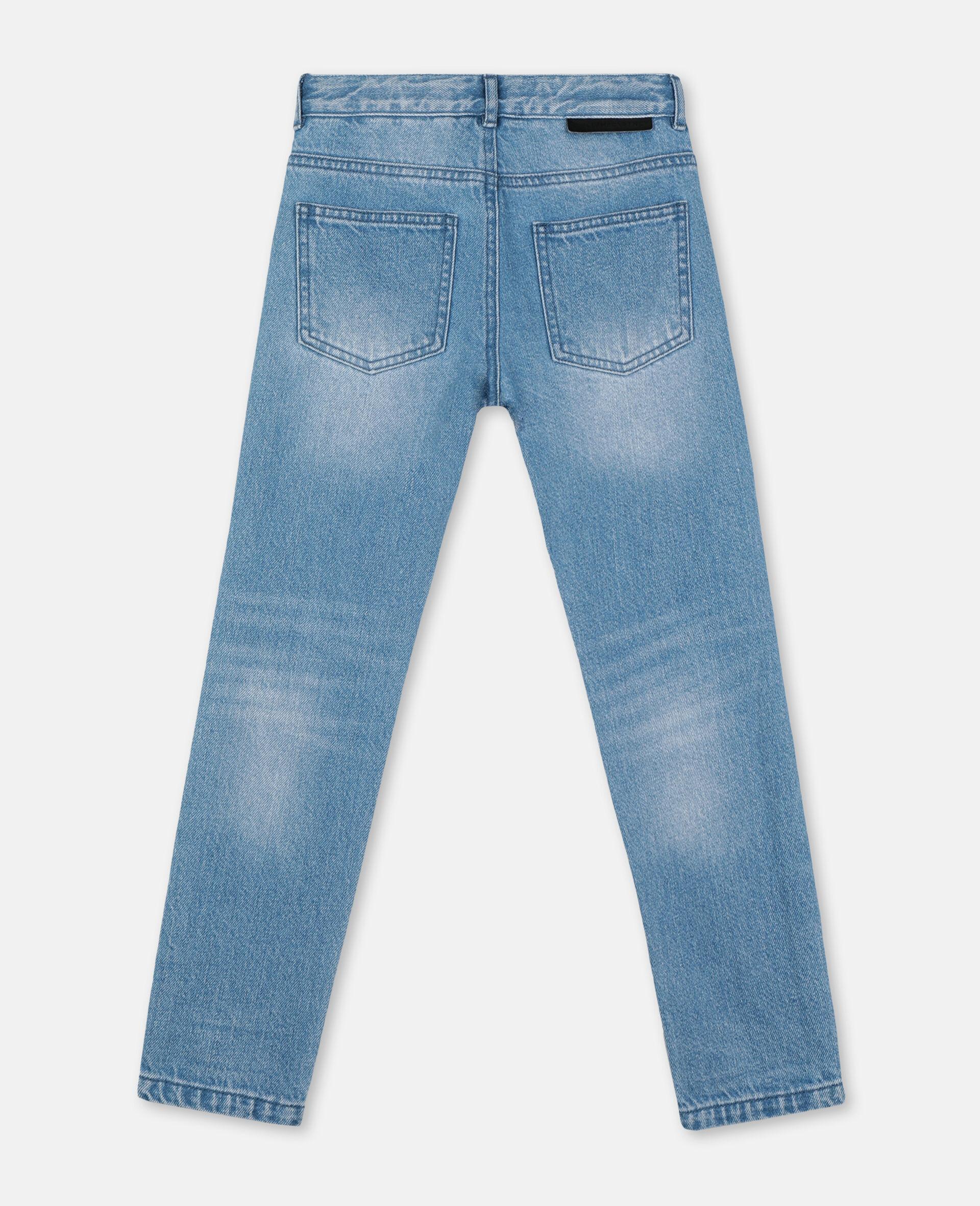 Regular Denim Trousers -Blue-large image number 3