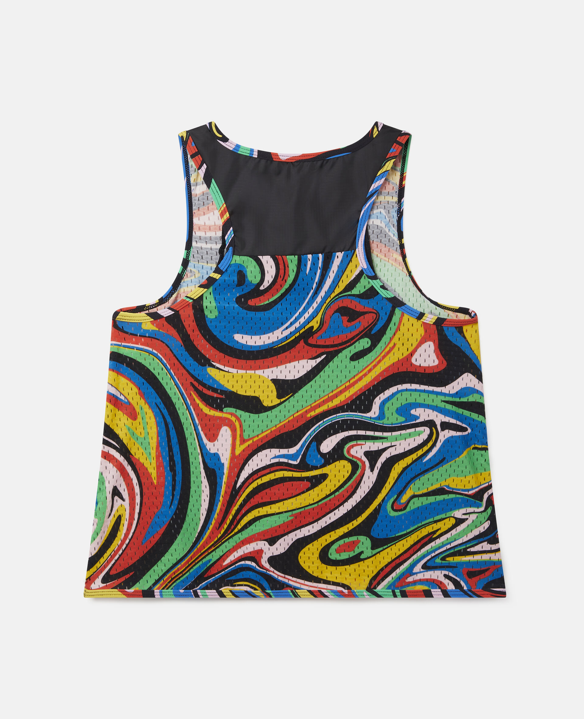 Sport-Hemd mit marmoriertem Print -Schwarz-large image number 3