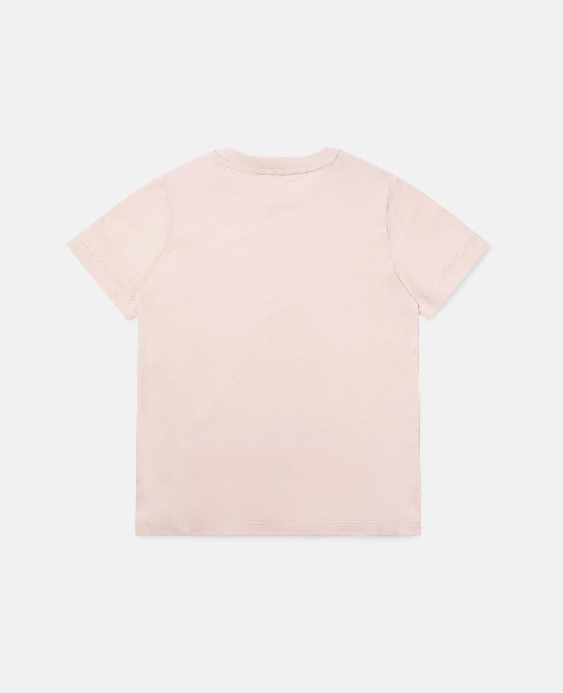 Skating Poodle Cotton T-shirt-Pink-large image number 3