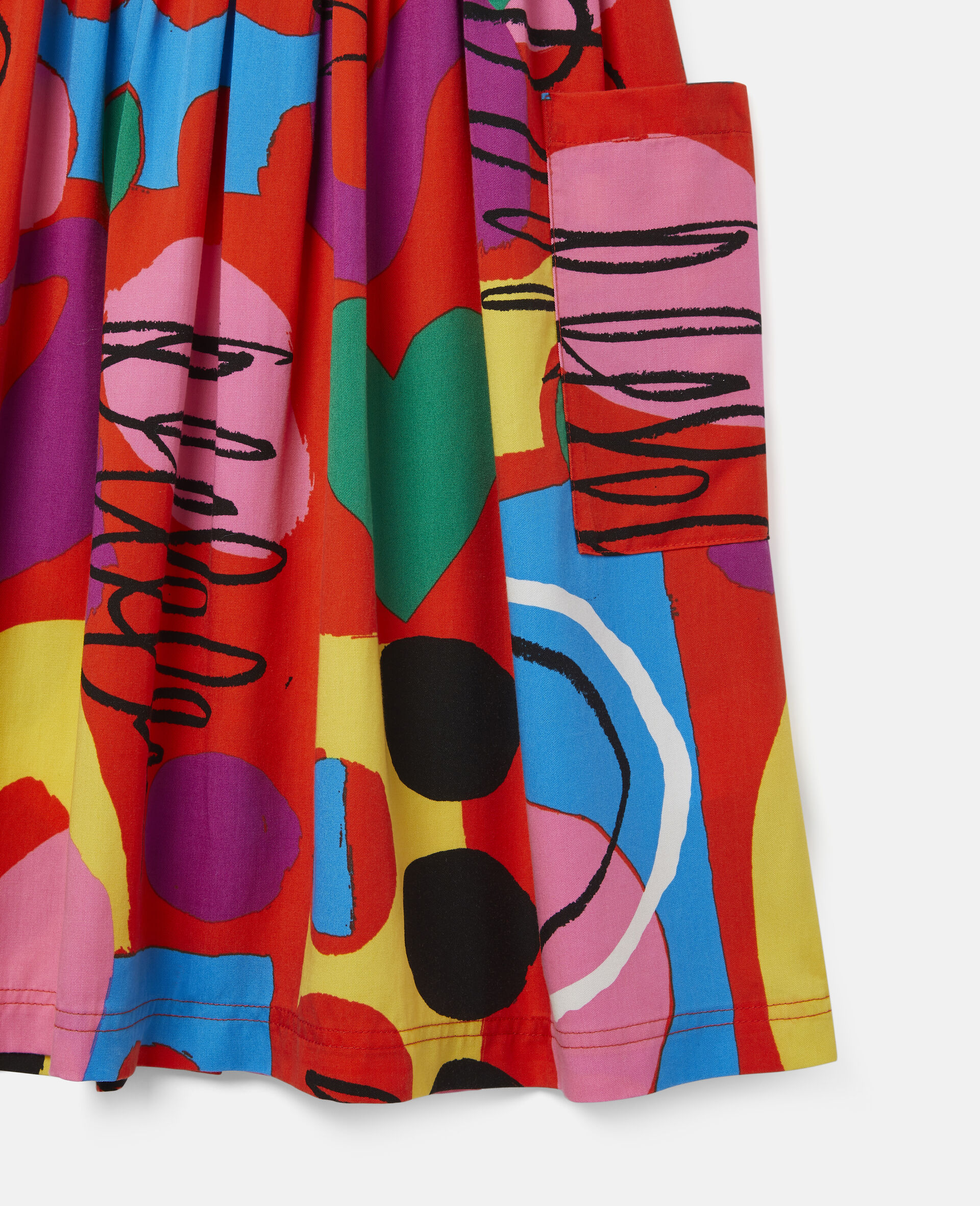 Painting Tencel Twill Skirt-Multicolour-large image number 2