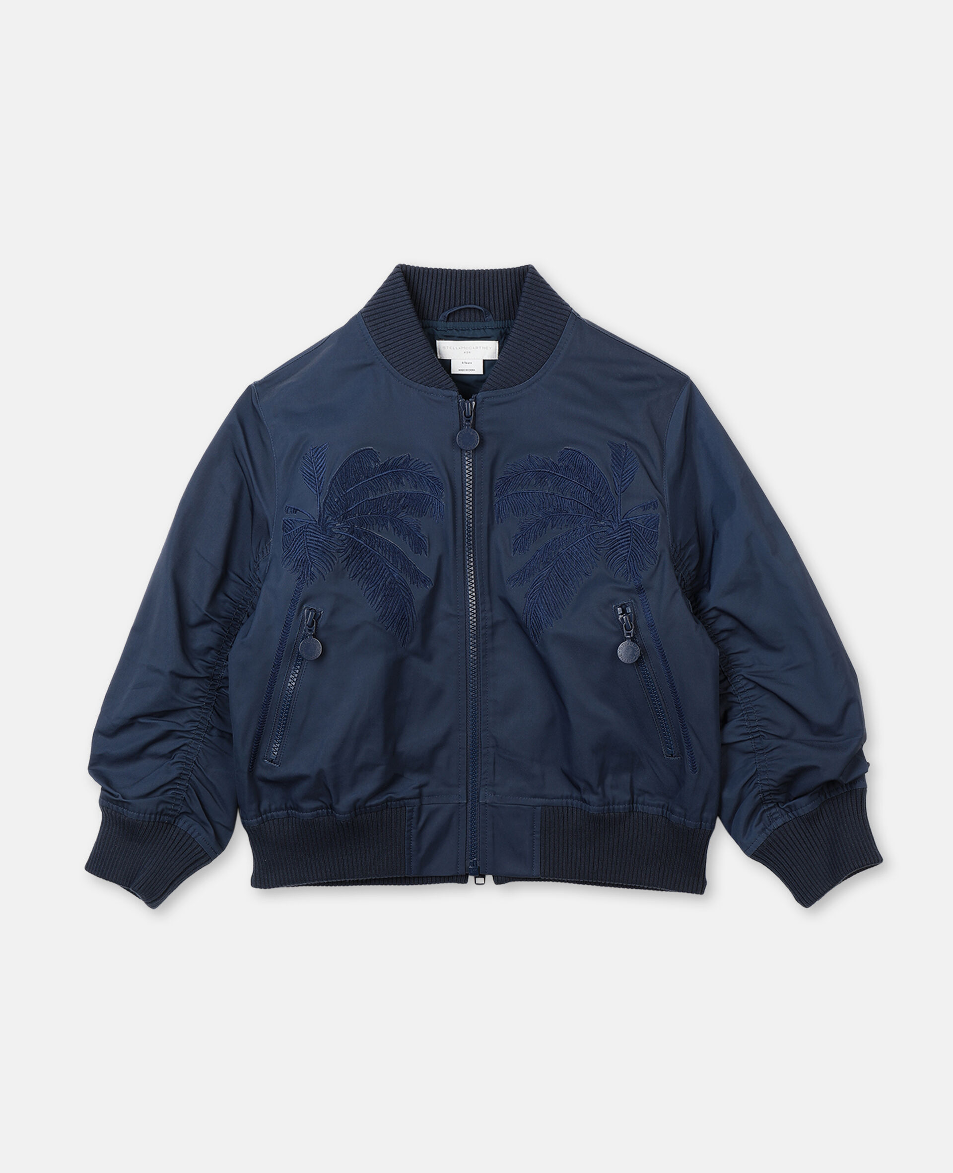 Embroidered Palms Jacket -Blue-large image number 0