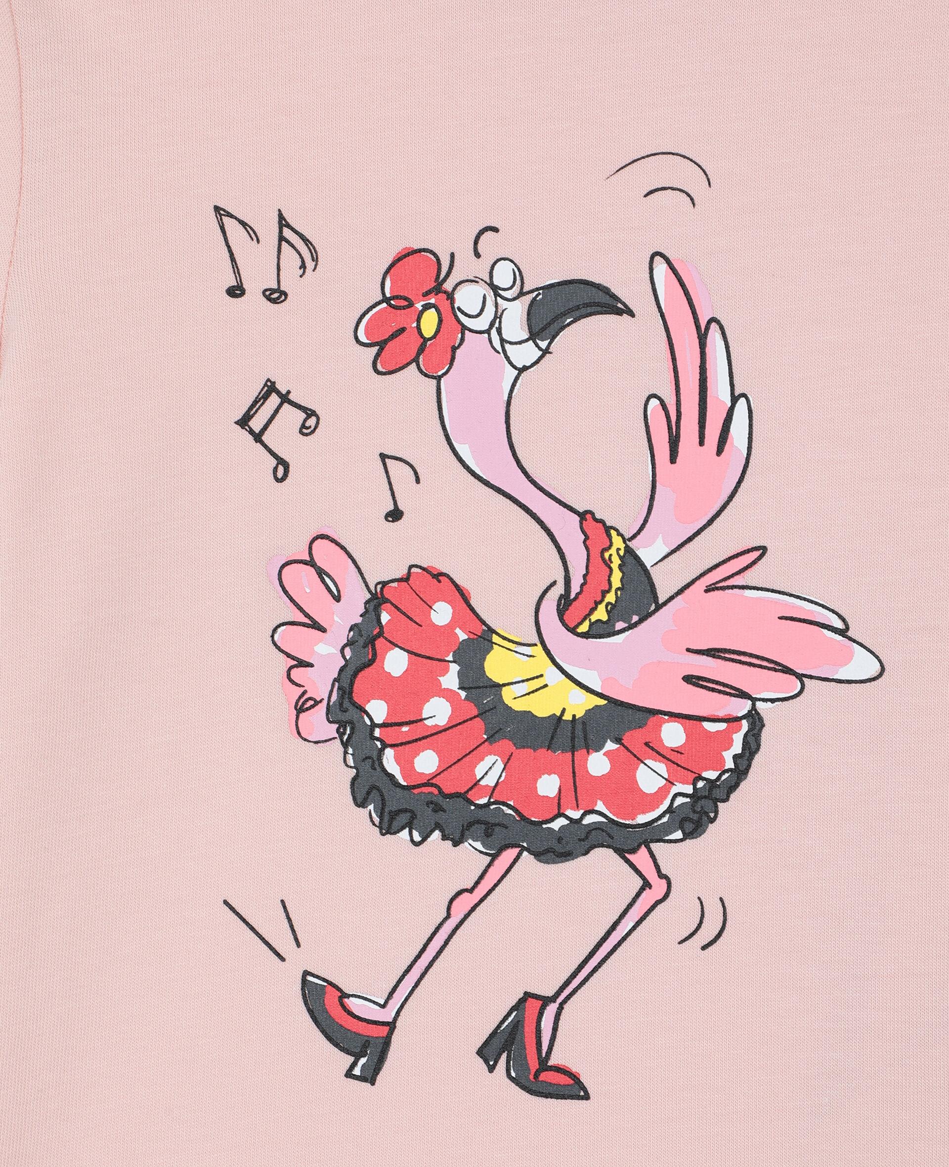 Dancing Flamingo 棉质 T 恤-粉色-large image number 2