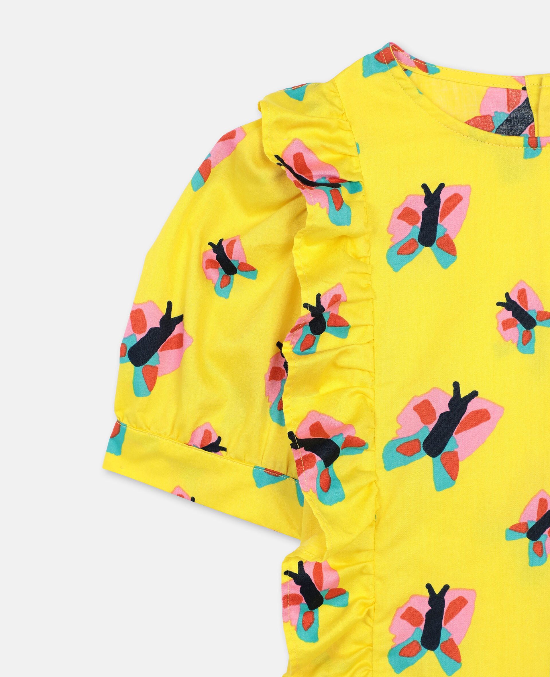 Butterfly Cotton Top-Yellow-large image number 1
