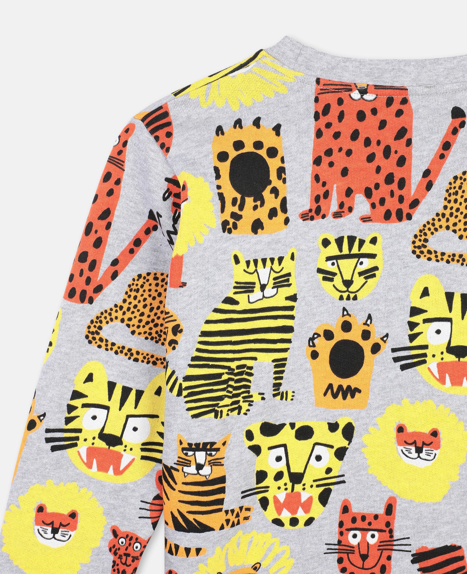 Wild Cats Cotton Sweatshirt -Multicolour-large image number 2