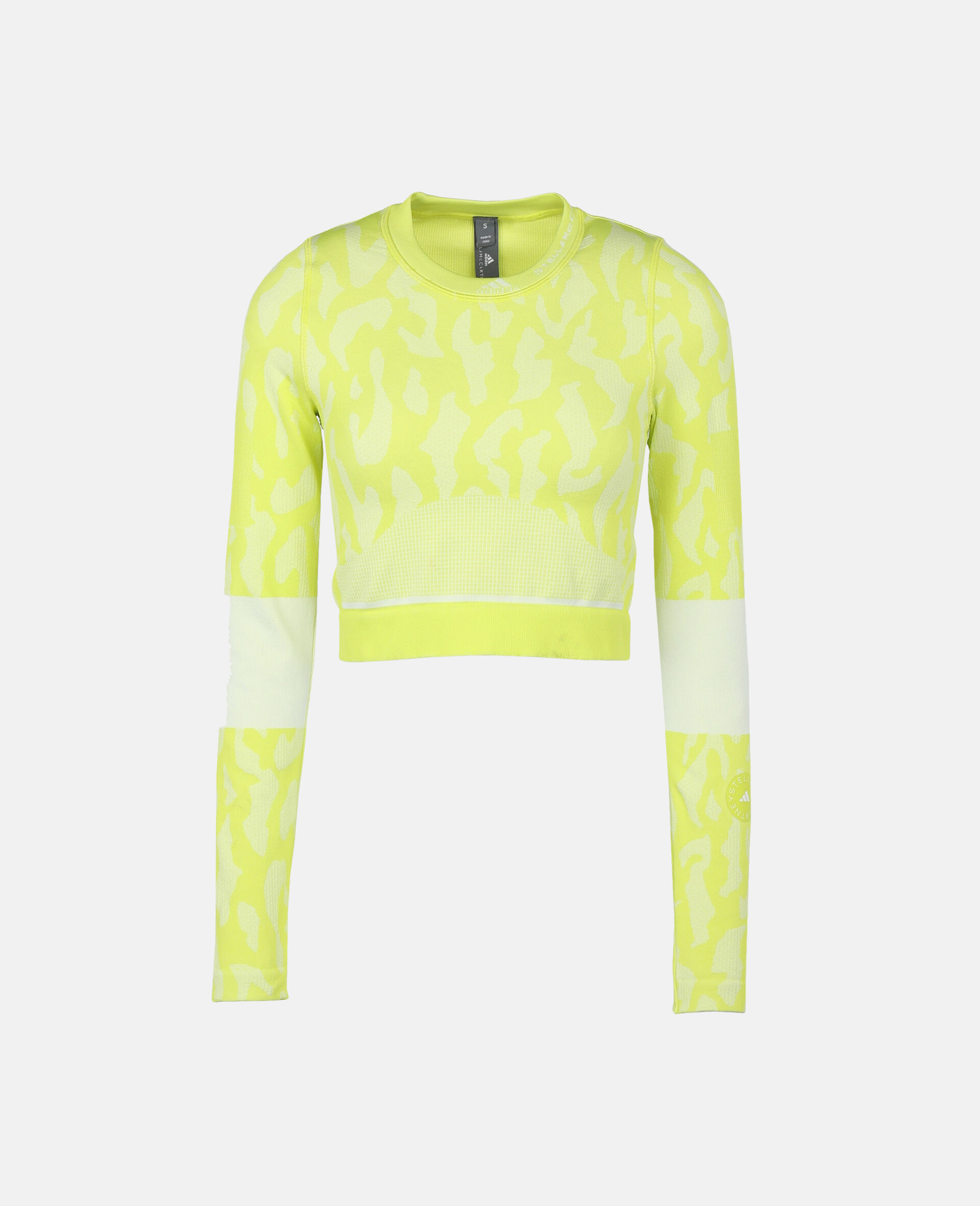 TruePurpose Seamless Training Crop Top -Yellow-large image number 0
