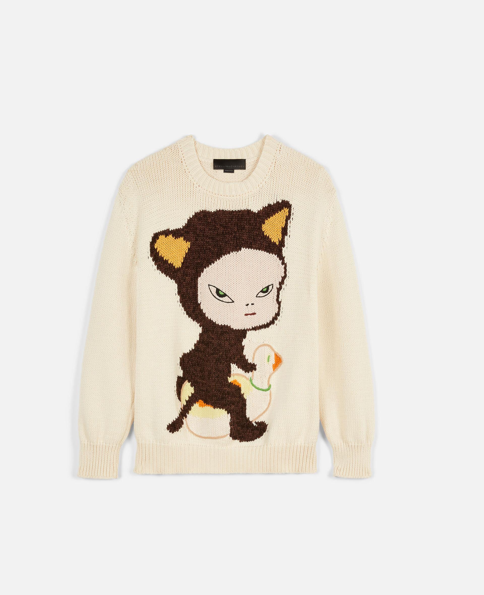 Nara Cat Intarsia Sweater-Multicolour-large image number 0