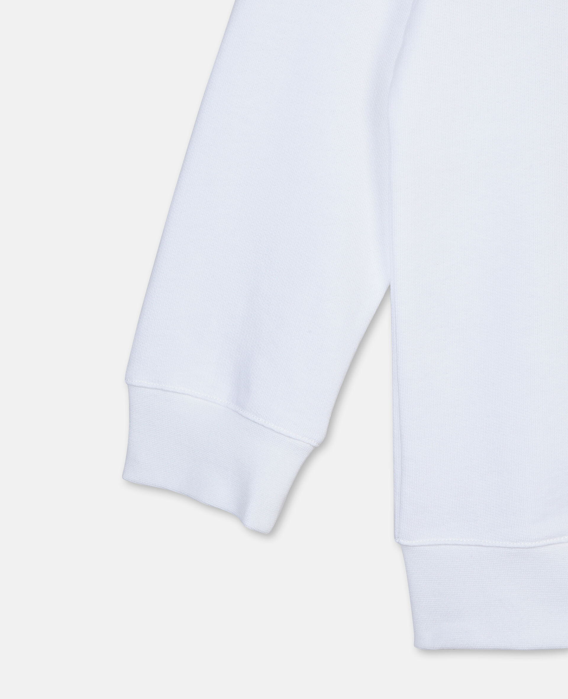 Felpa Oversize in Cotone con Logo Basket -Bianco-large image number 2