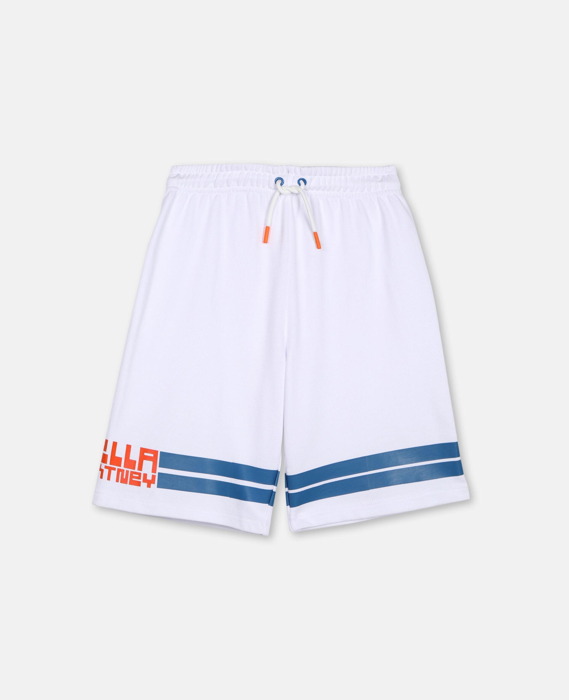 Logo Cotton Sport Shorts -White-large image number 0