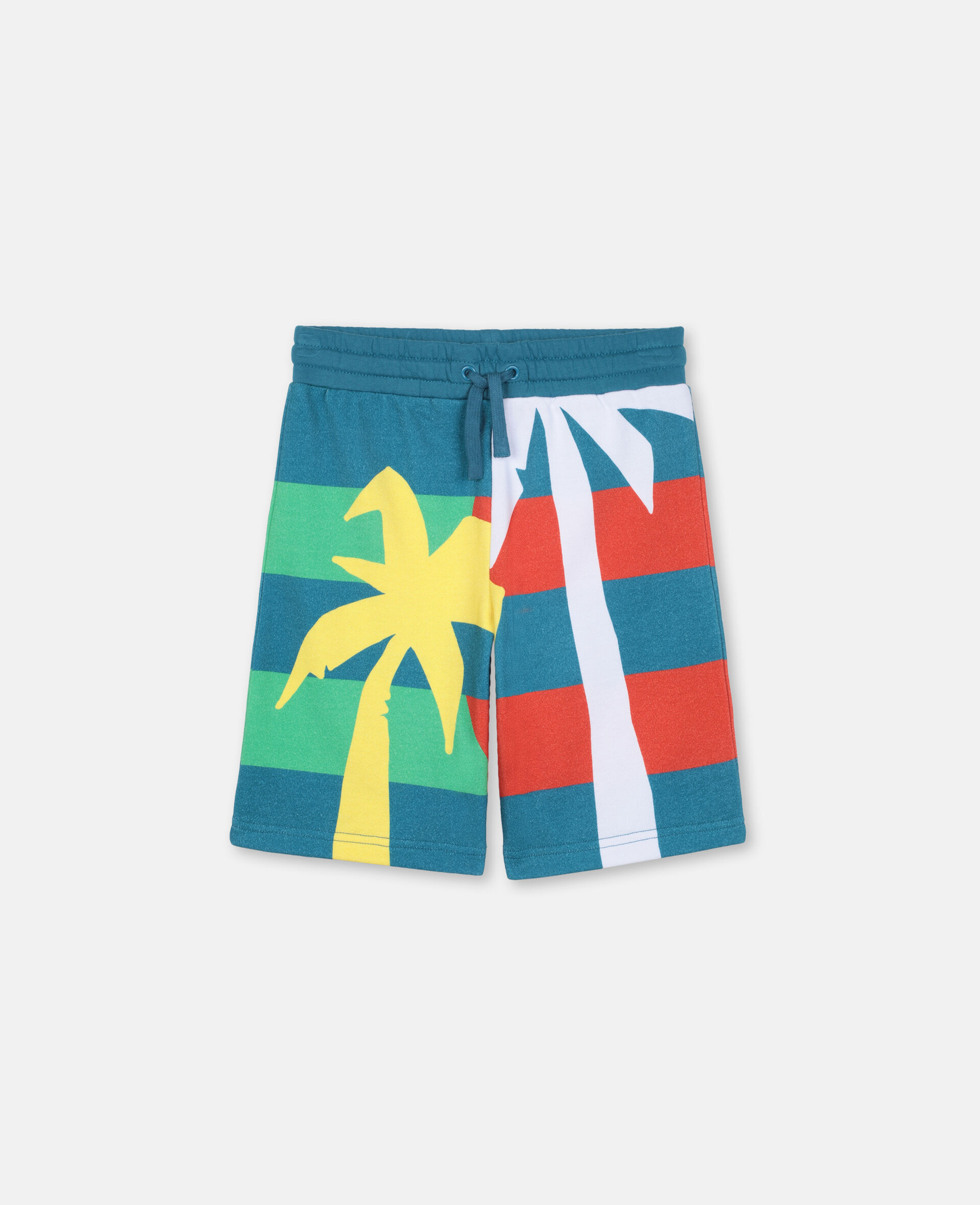 Palm Cotton Shorts -Green-large image number 0