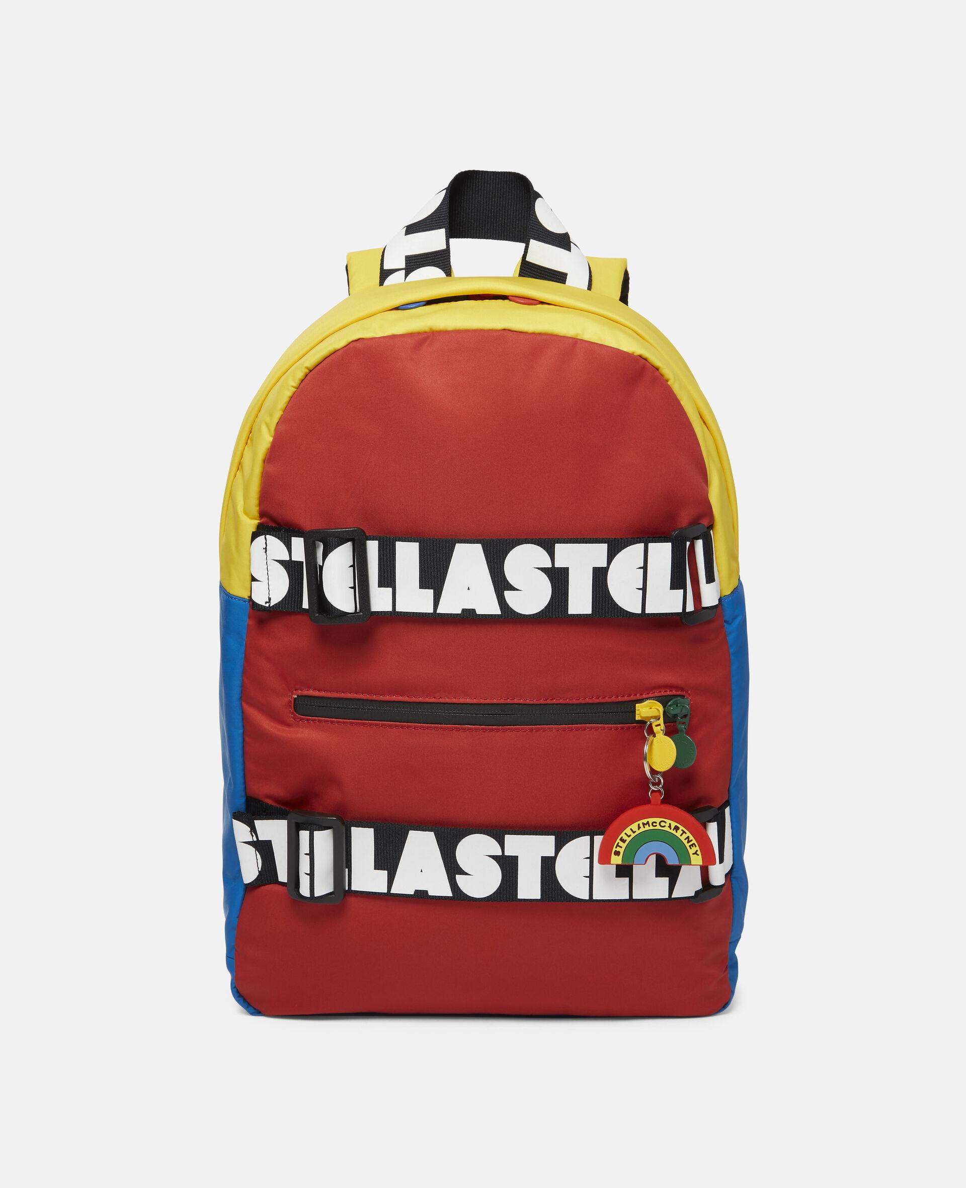 Colourblock Logo Backpack-Multicolour-large image number 0