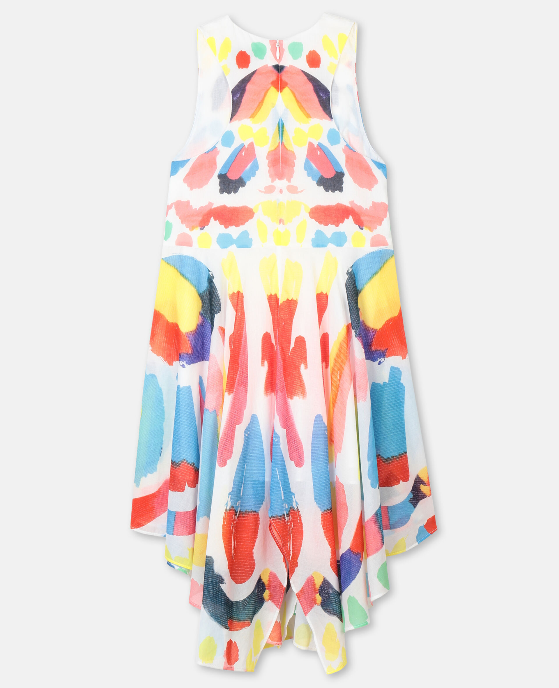 Butterfly Cotton Dress-Multicolour-large image number 3