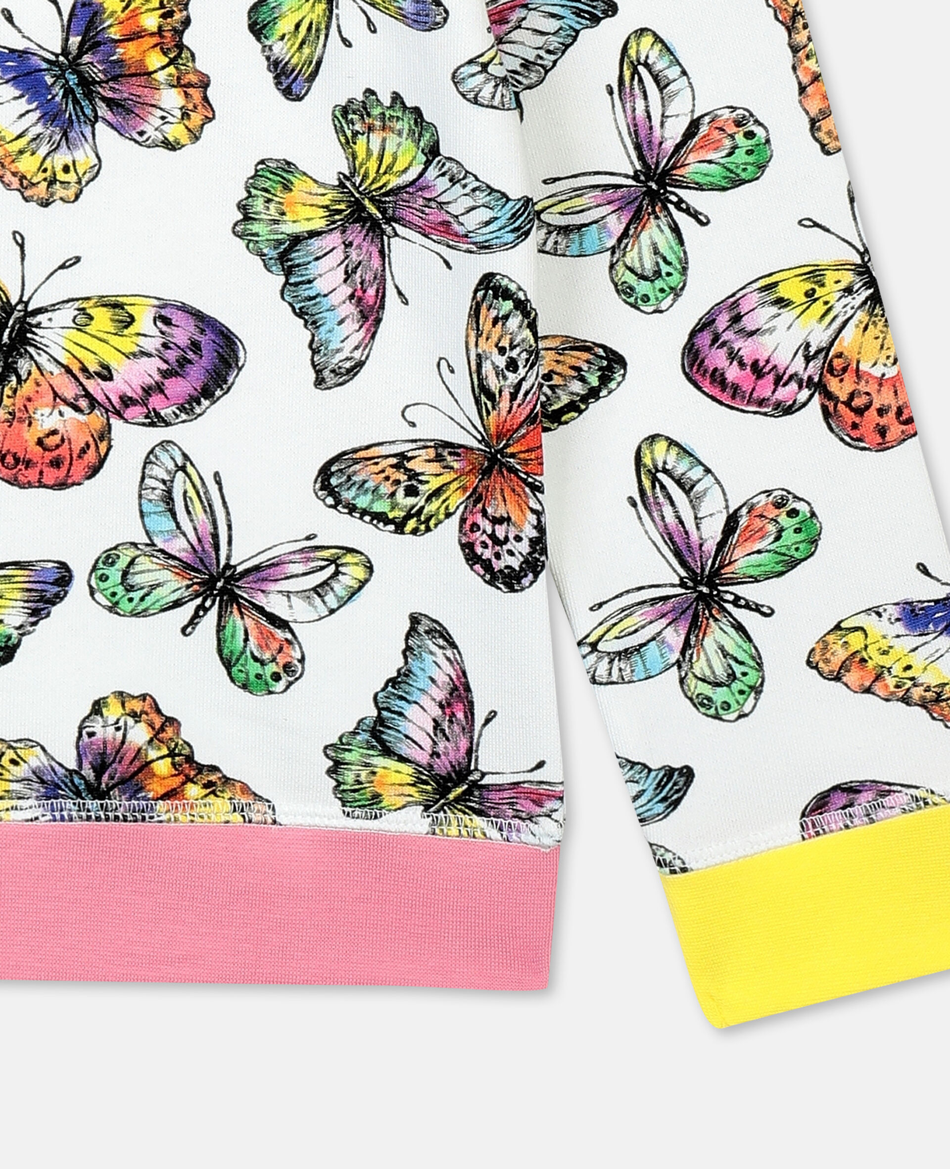 Butterfly Cotton Sweatshirt-Multicoloured-large image number 2