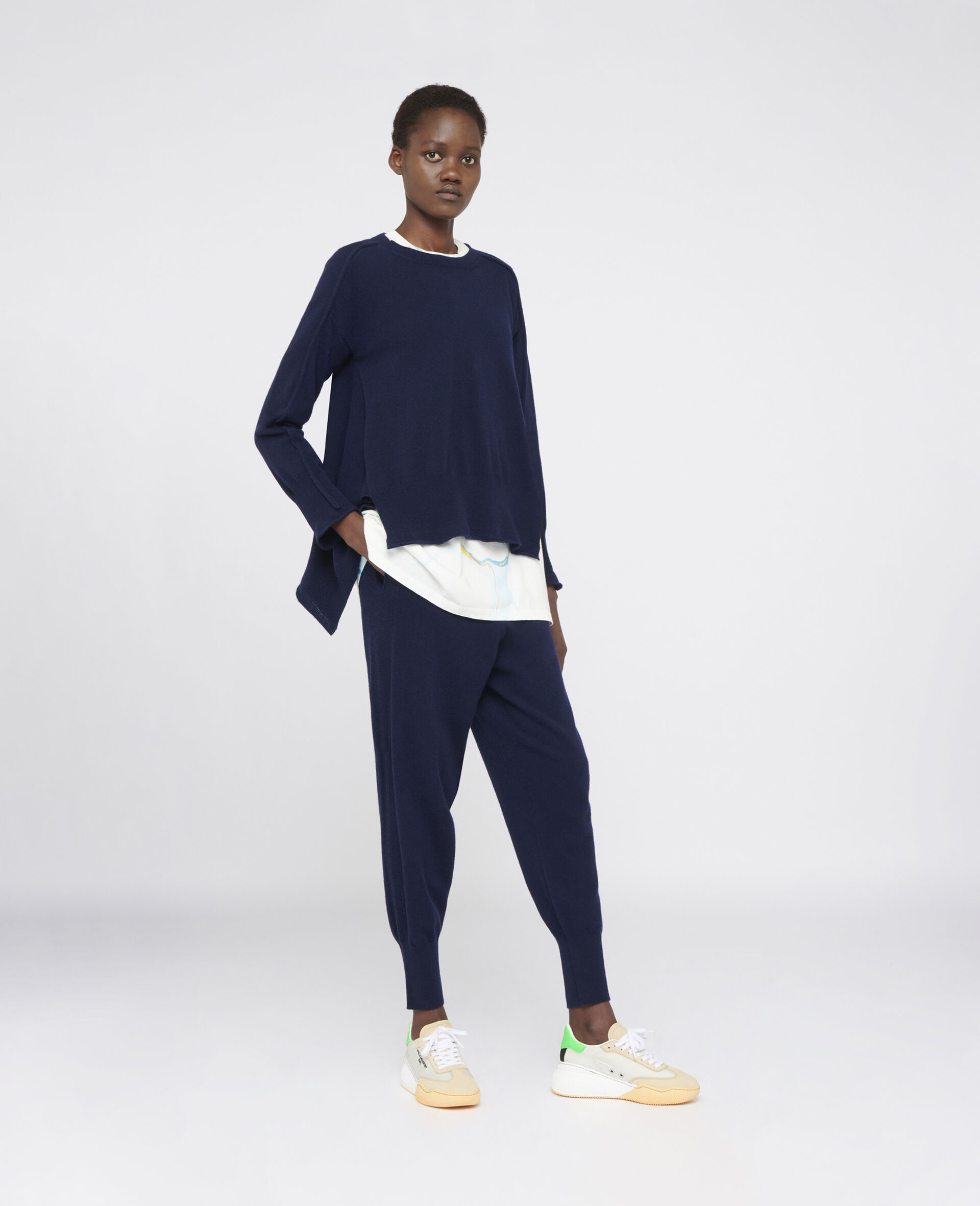 Light Cashmere Trousers-Blue-large image number 1