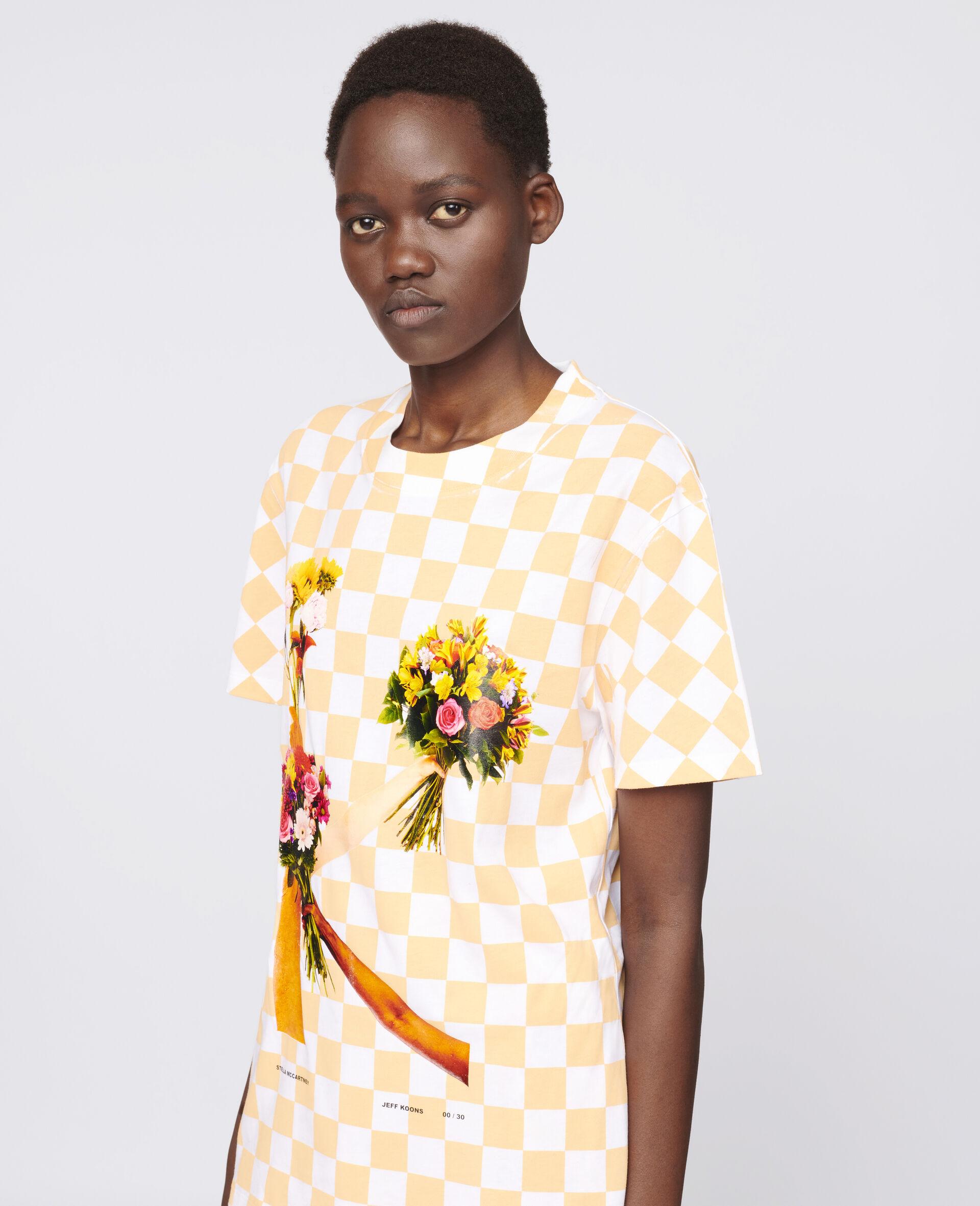 "T-Shirt ""K"" di Jeff Koons-Bianco-large image number 3"
