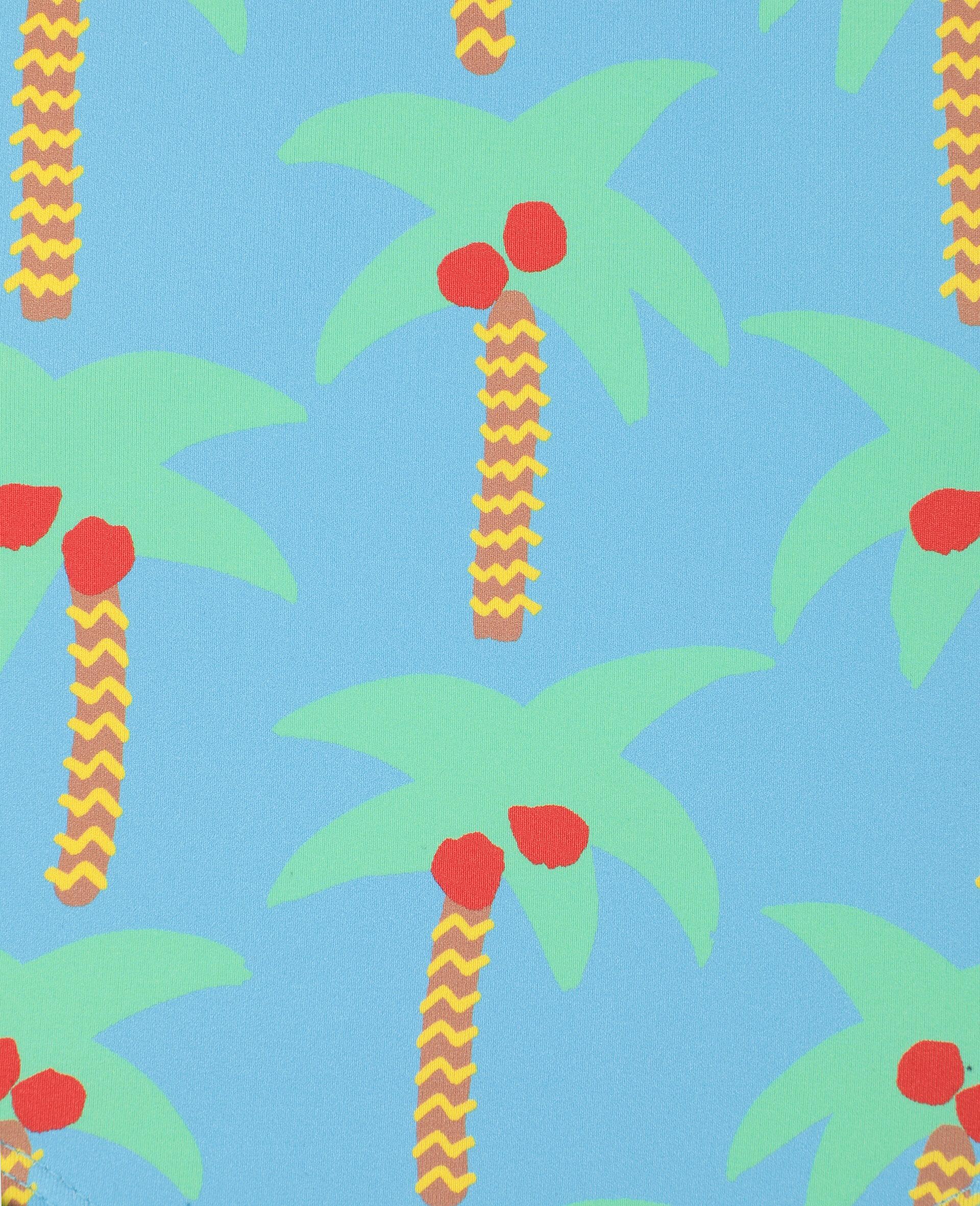 Maillot une pièce avec motif palmiers-Vert-large image number 1