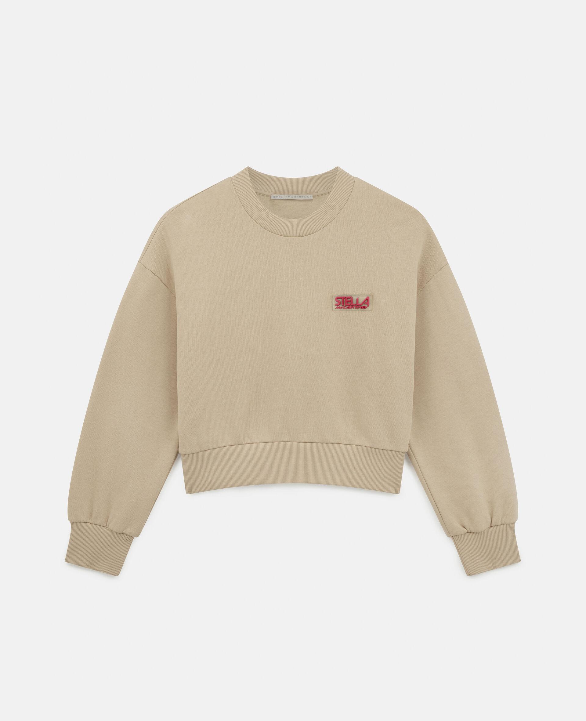 Baumwoll-Sweatshirt mit Logo-Brown-large image number 0
