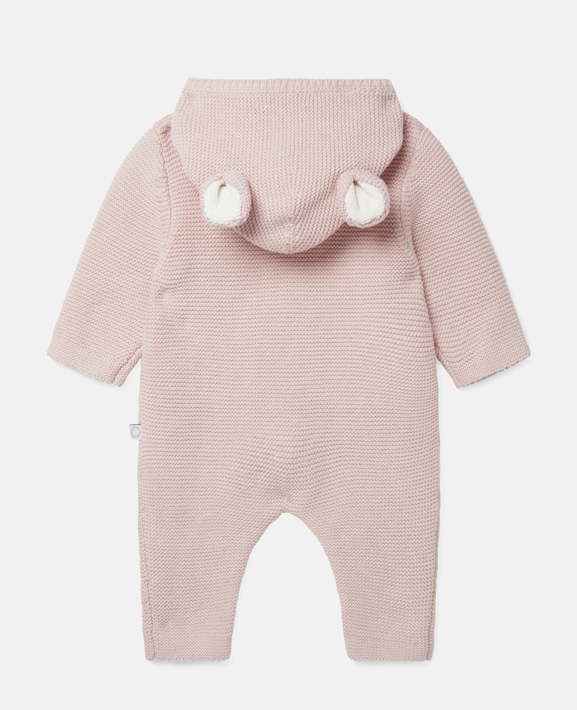 Doggie Knit Jumpsuit-Pink-large image number 3