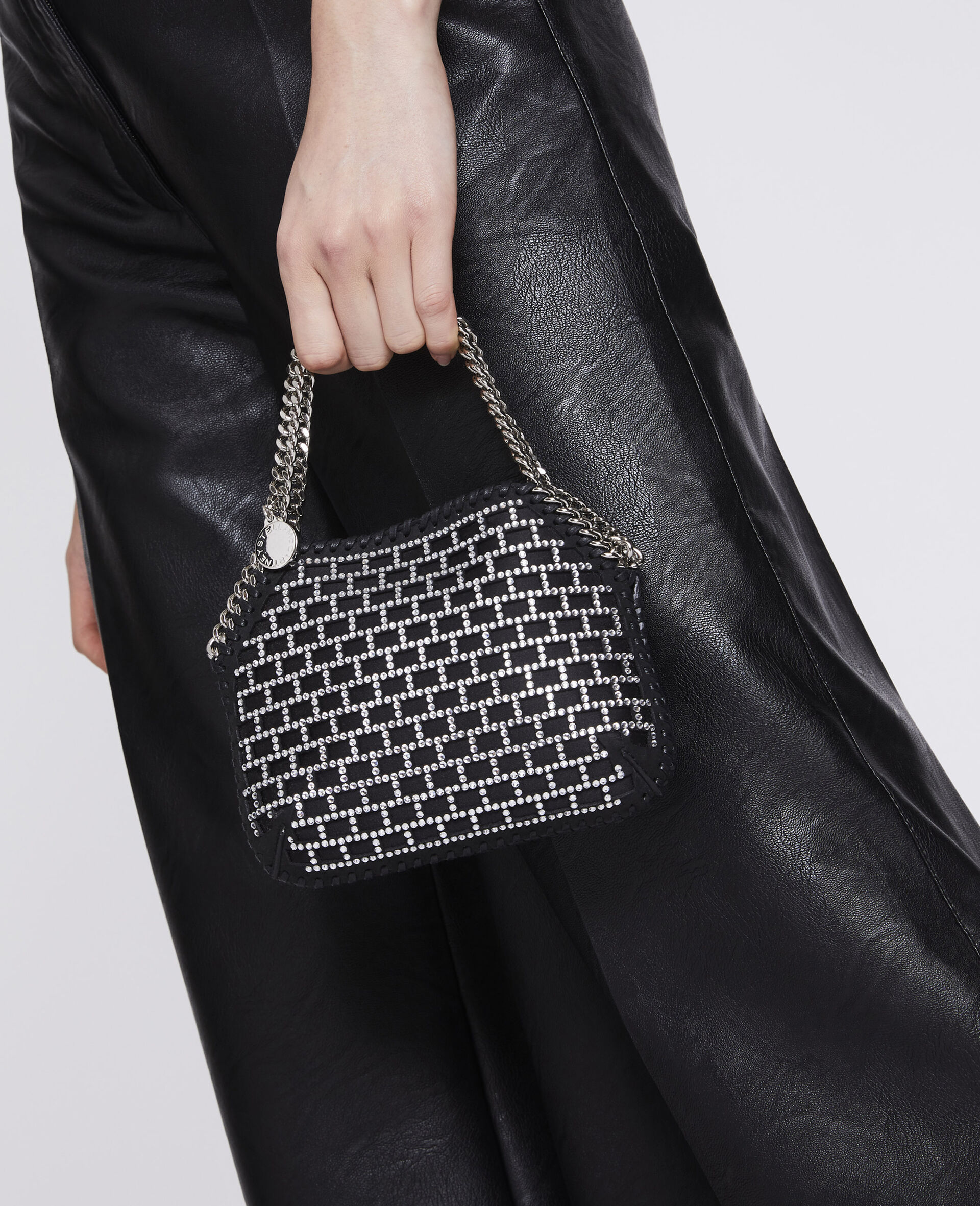 Mini-sac porté épaule Falabella -Noir-large image number 3