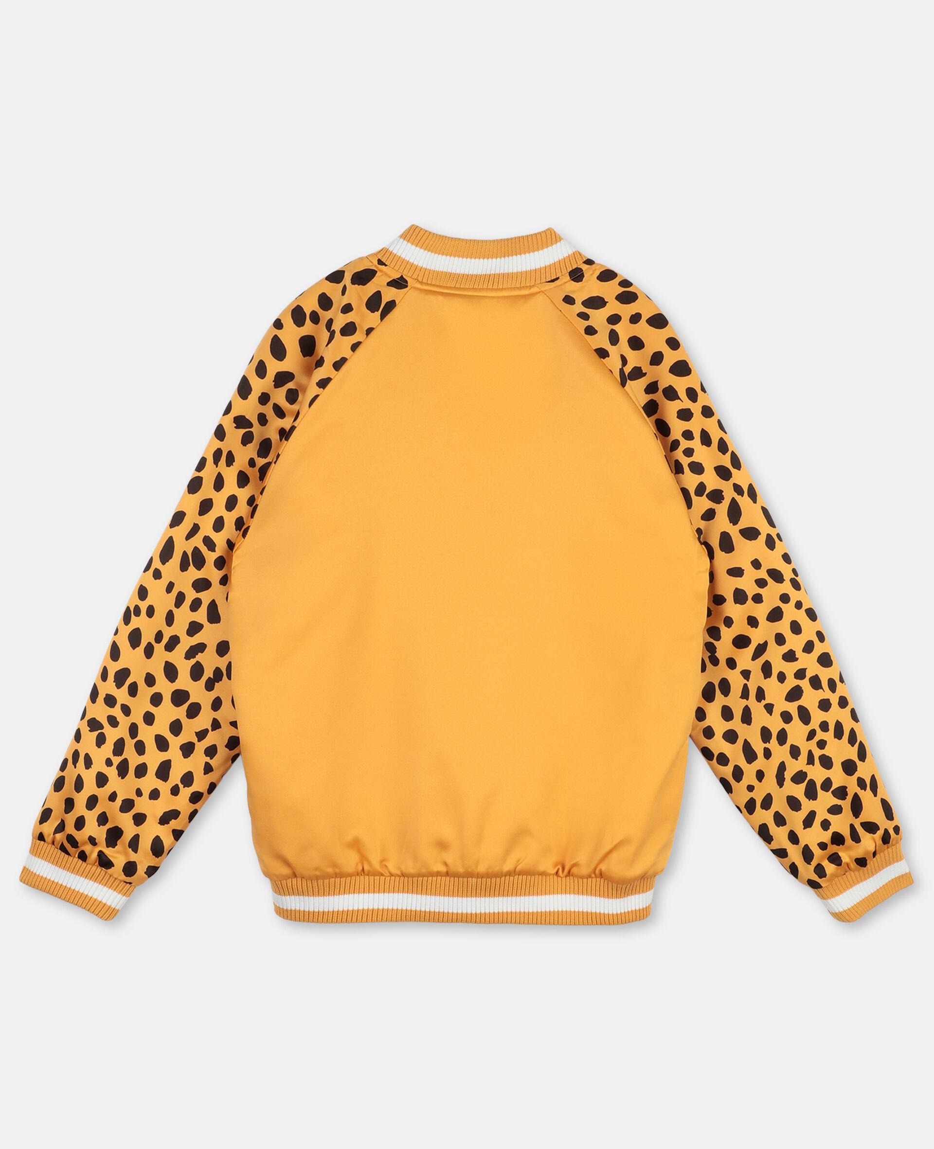 Cheetah Patch Satin Bomber   -Orange-large image number 3