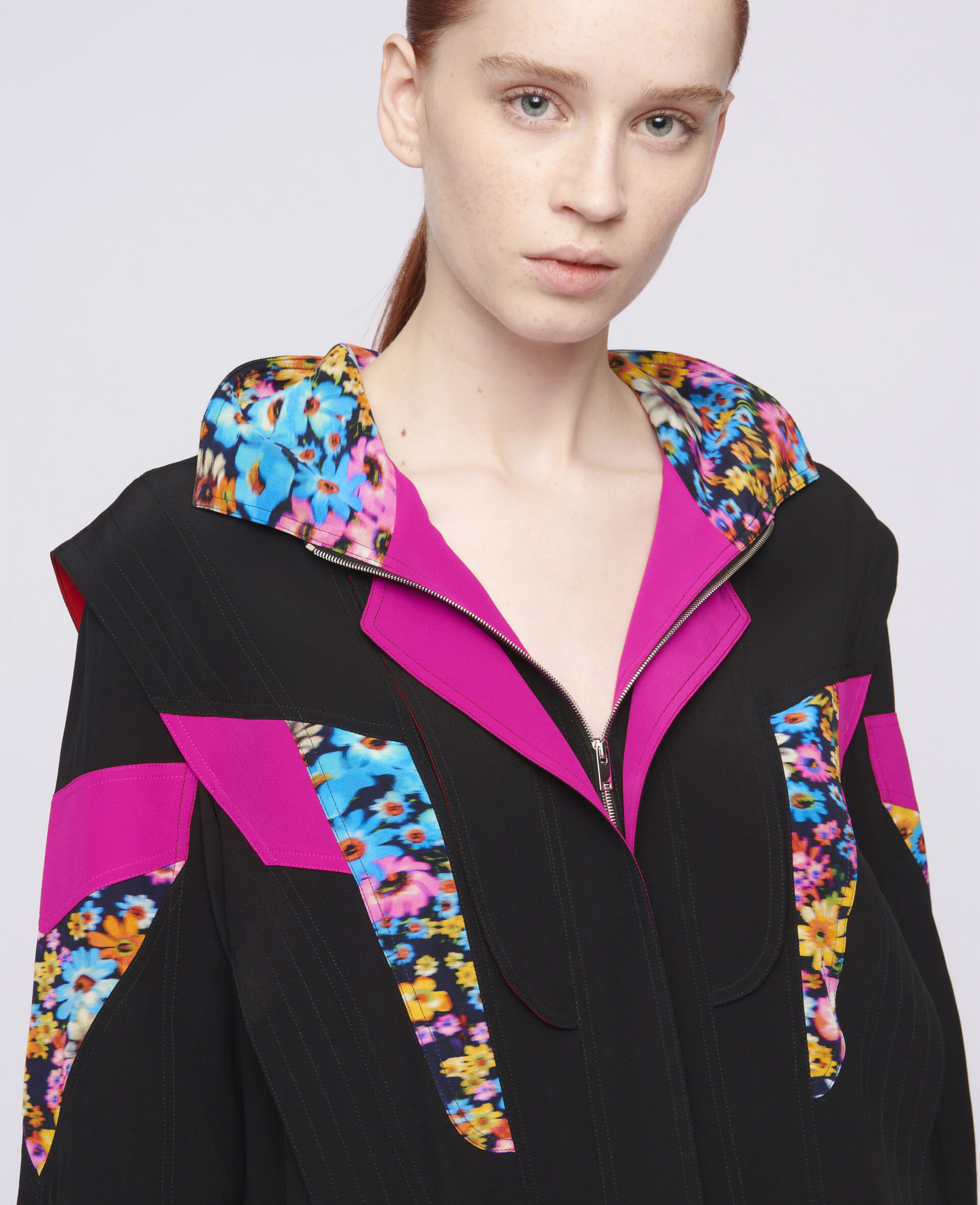 Monica Silk Dress-Multicolour-large image number 3
