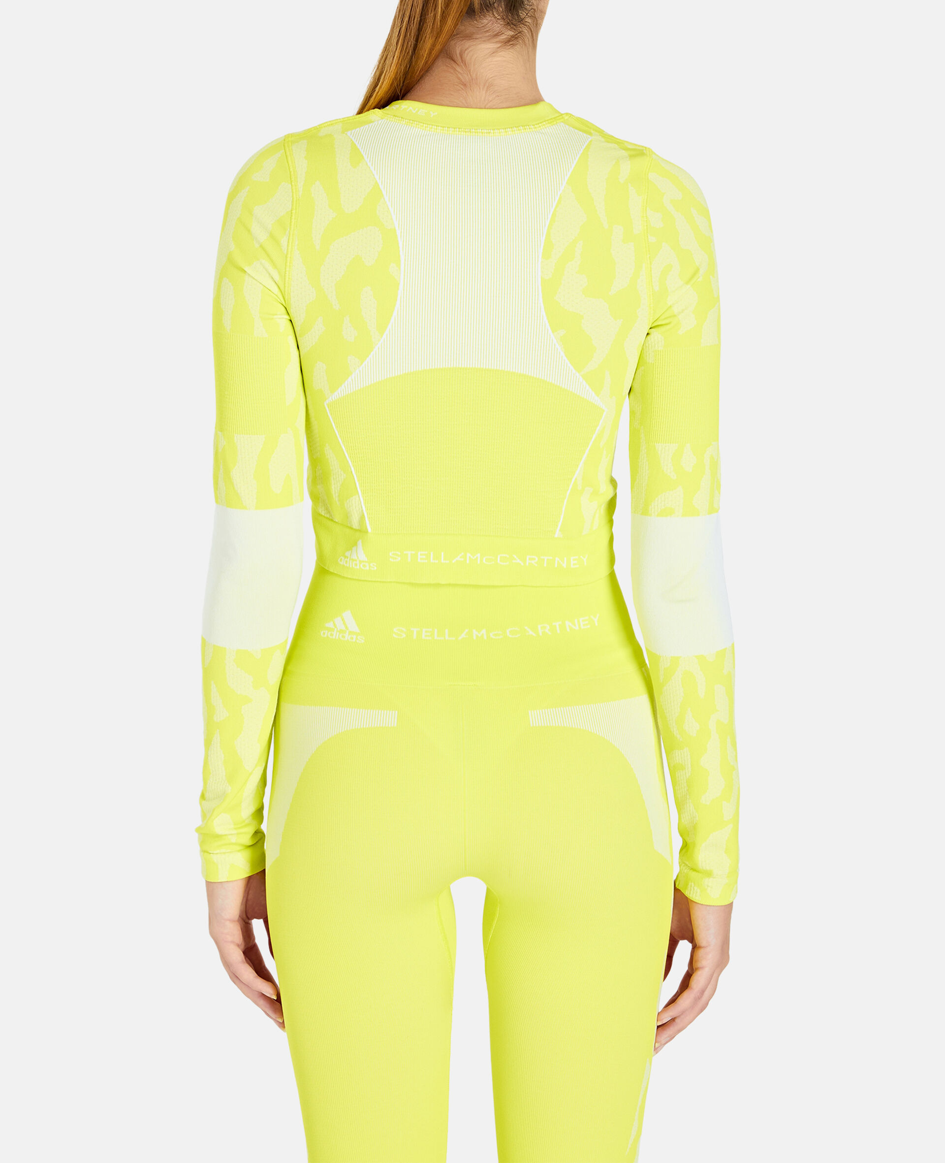 TruePurpose Seamless Training Crop Top -Yellow-large image number 2