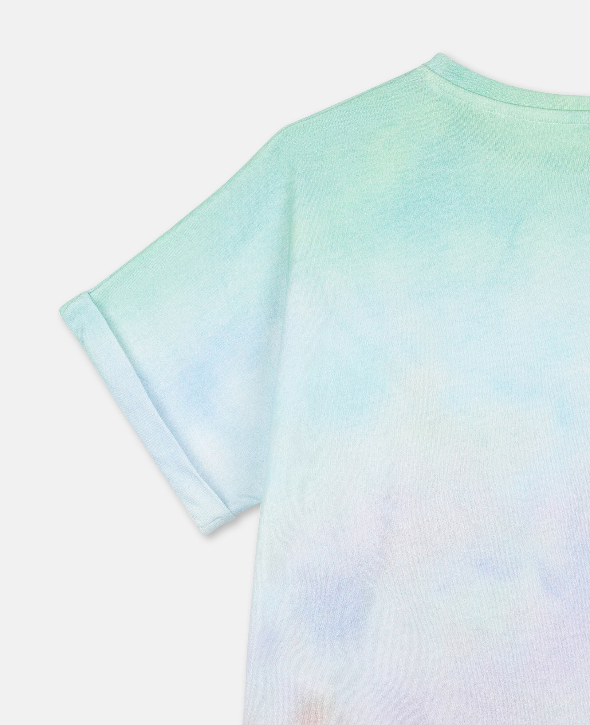 Baumwoll-T-Shirt mit Schmetterling-Print-Bunt-large image number 2