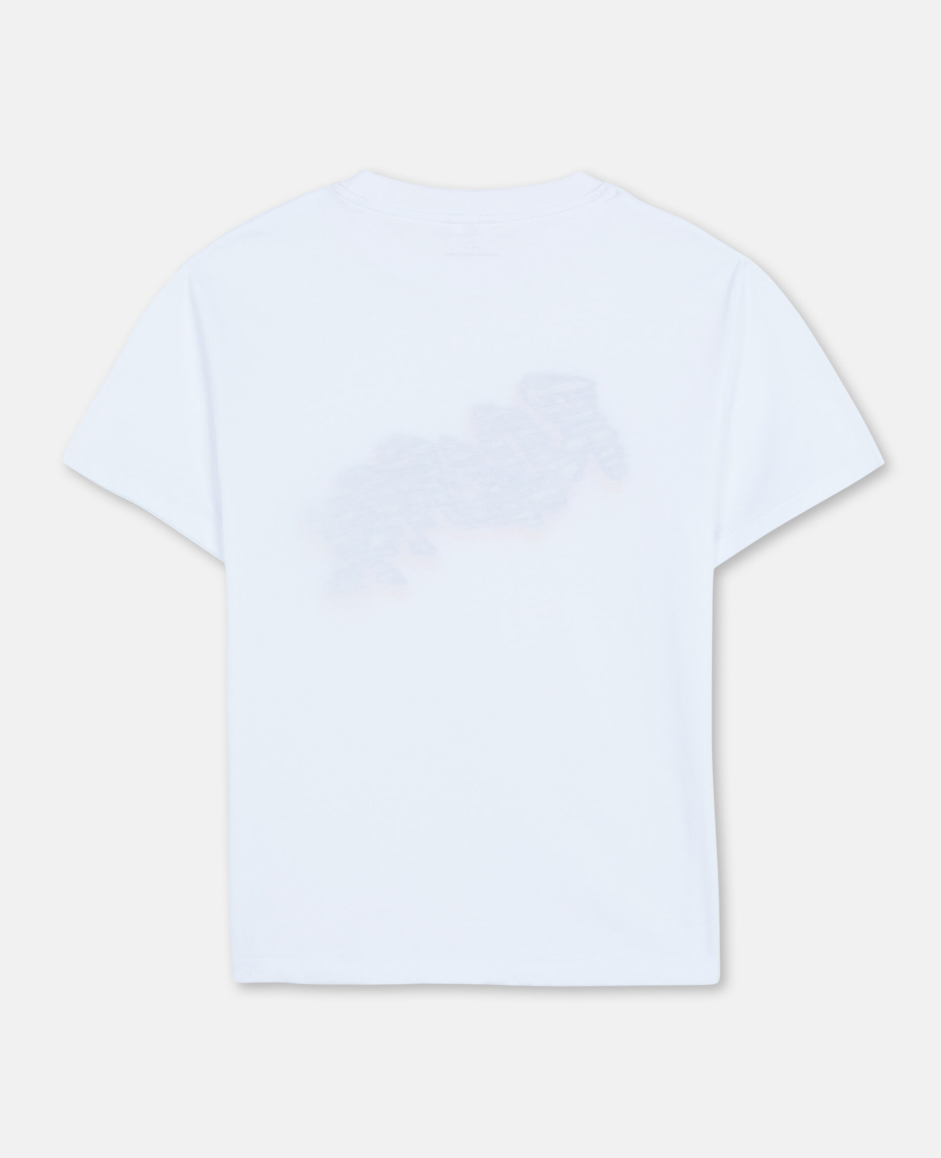 Oversize Roarrr Cotton T-shirt -White-large image number 3