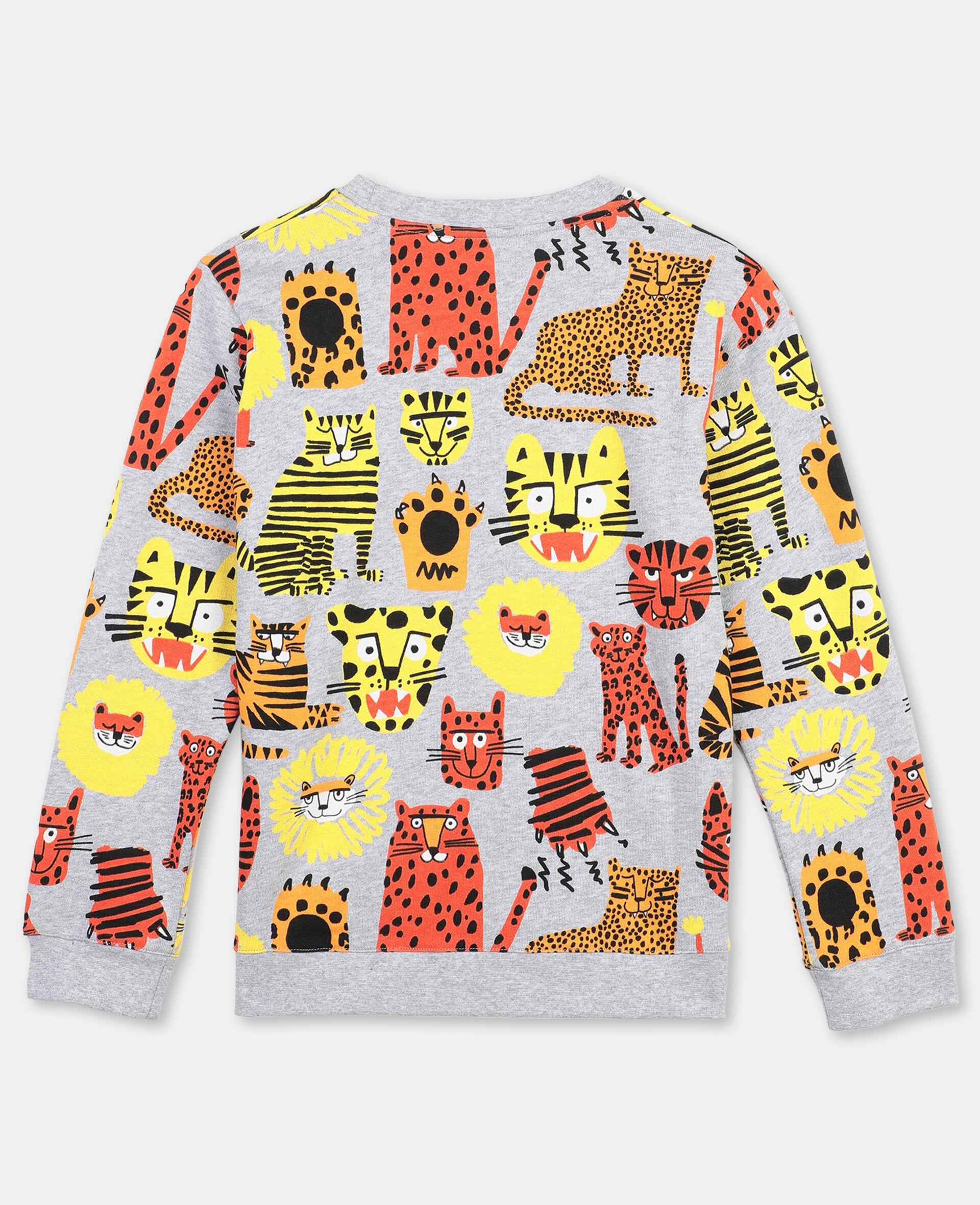 Baumwollsweatshirt mit Wildkatzen-Print -Bunt-large image number 3
