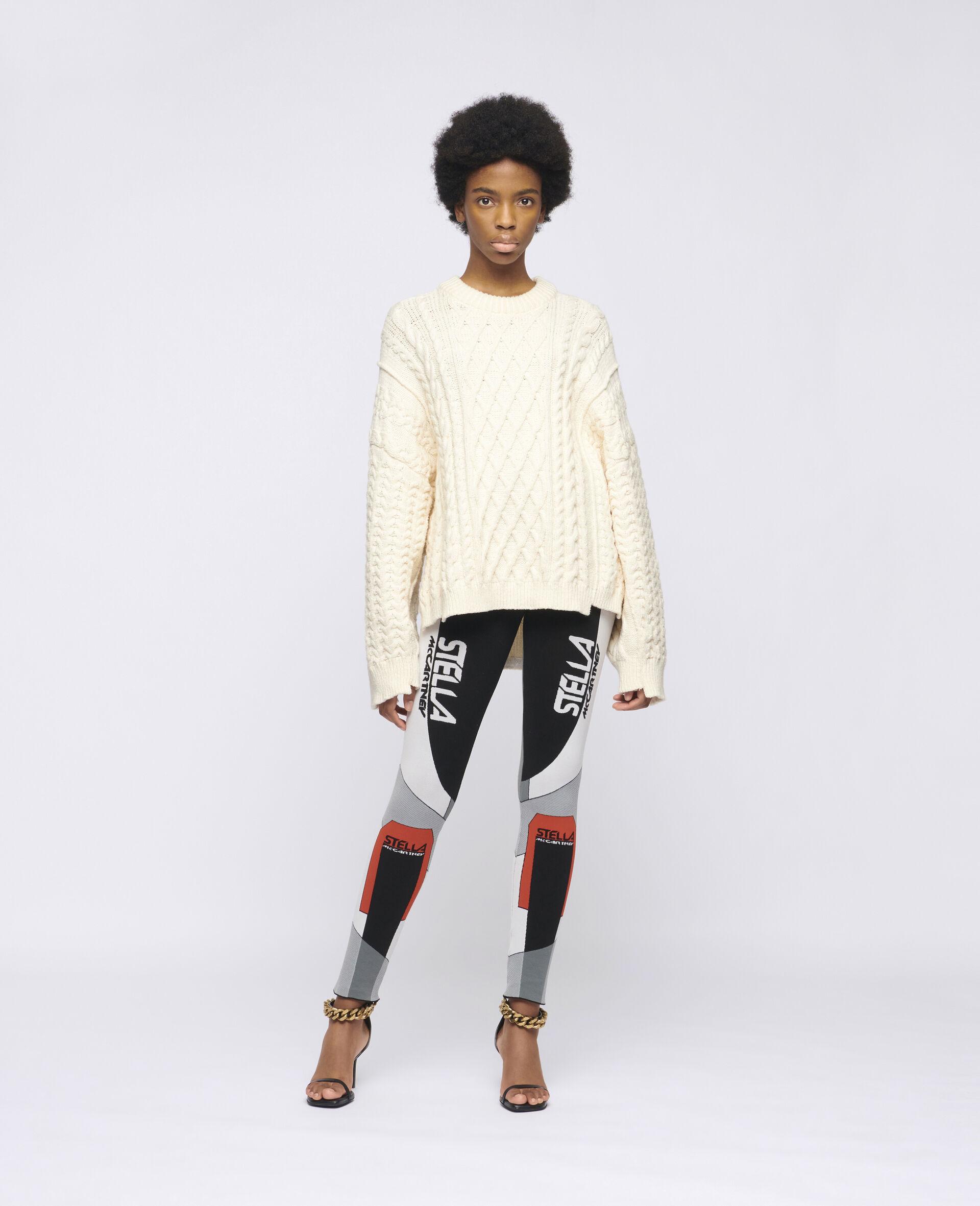 Stella Sporty 徽标贴腿裤-黑色-large image number 1