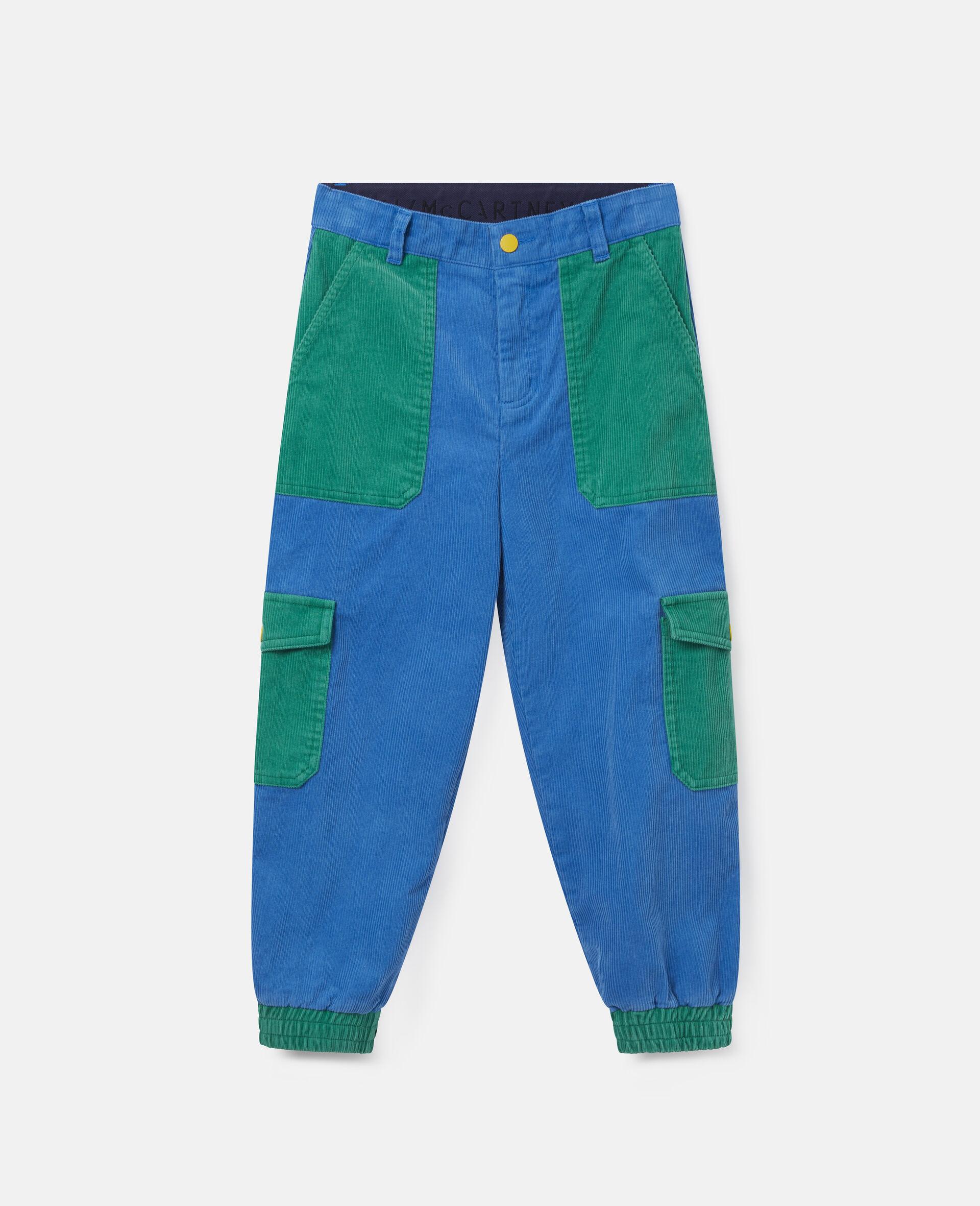Cargo Corduroy Pants-Blue-large image number 0