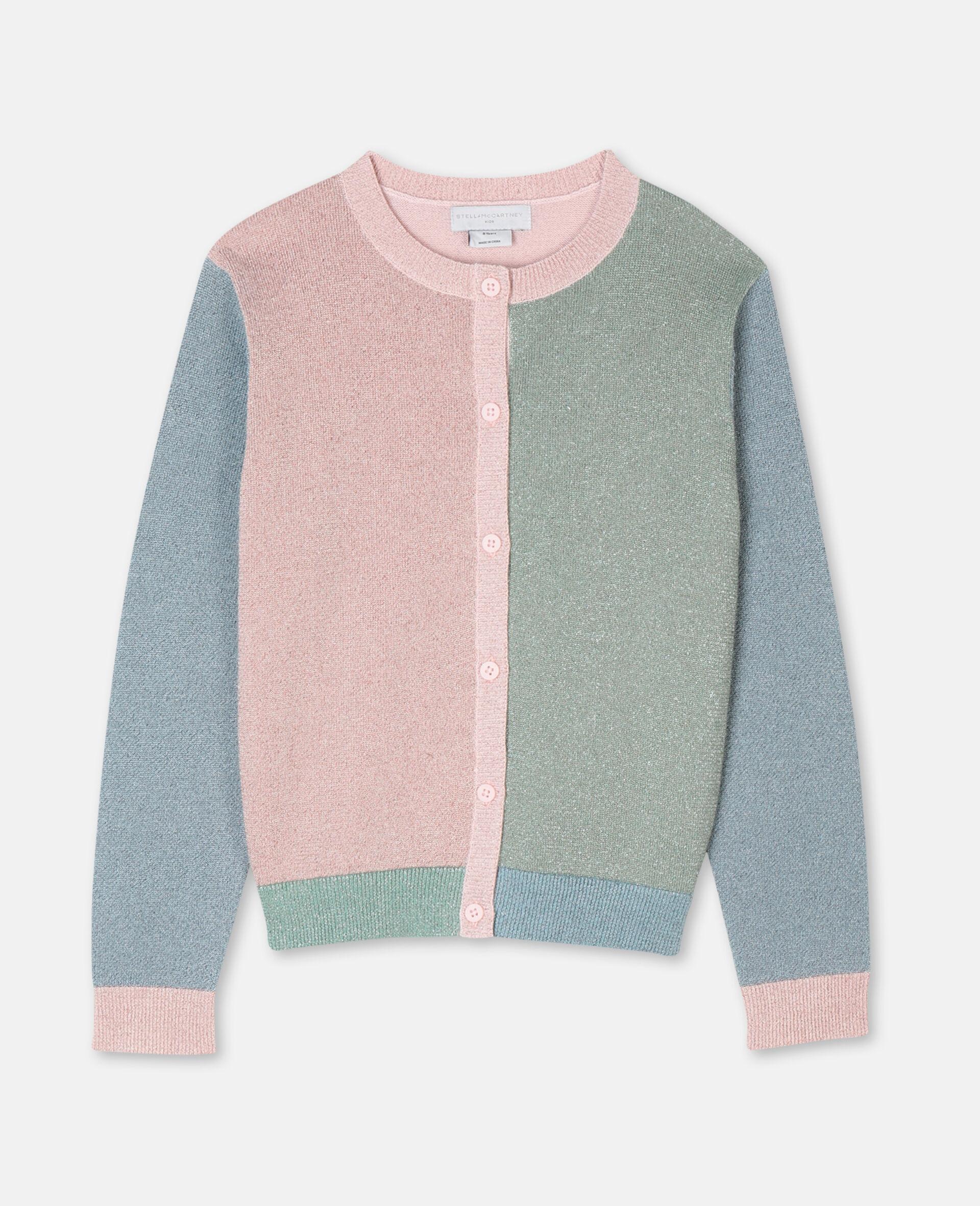 多色针织开衫 -粉色-large image number 0
