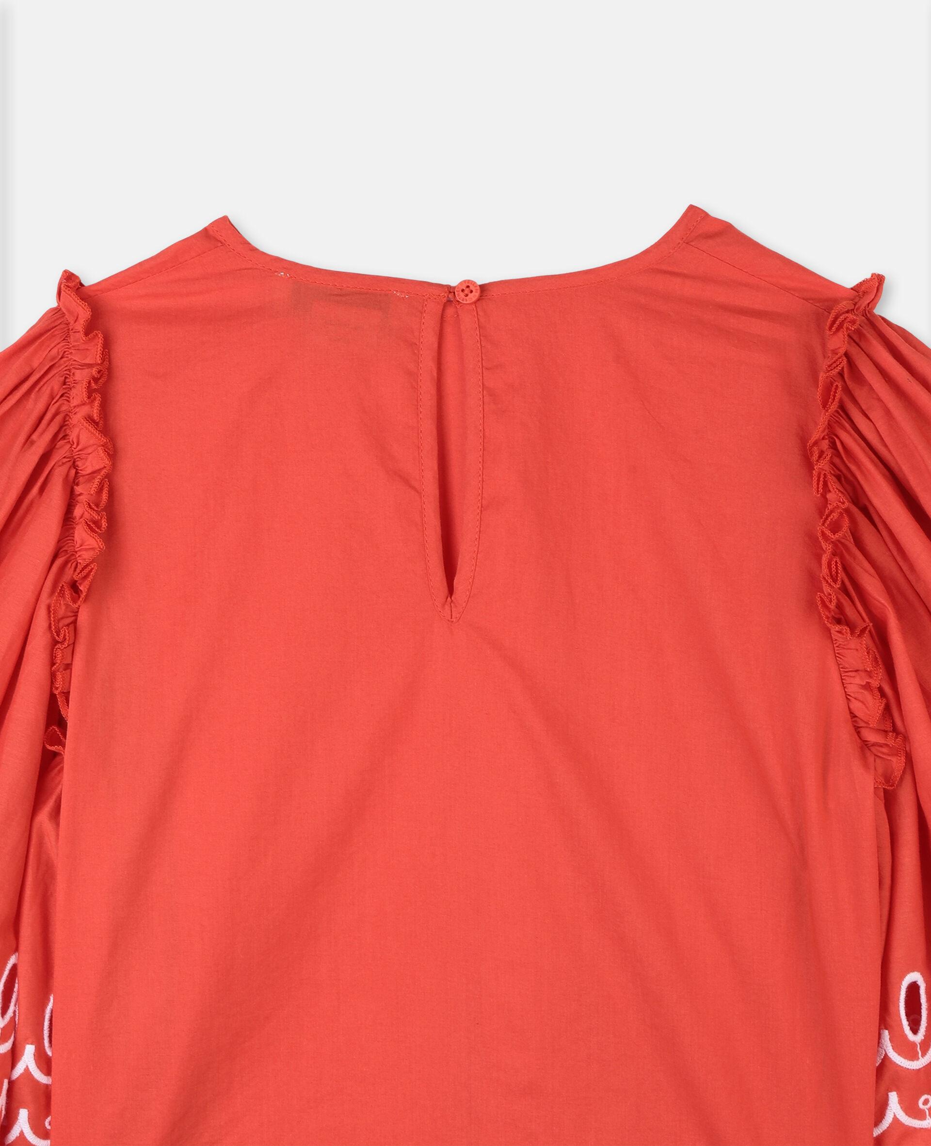 Top en coton festonné-Rouge-large image number 2