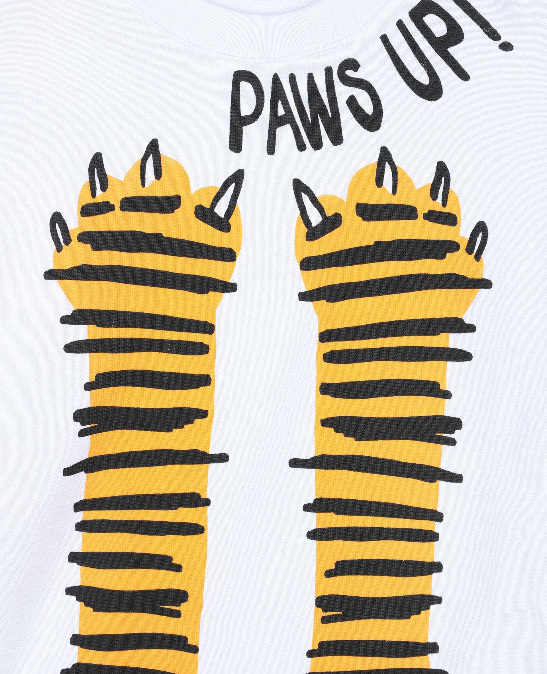 Paws Up Oversize Cotton Sweatshirt -White-large image number 1