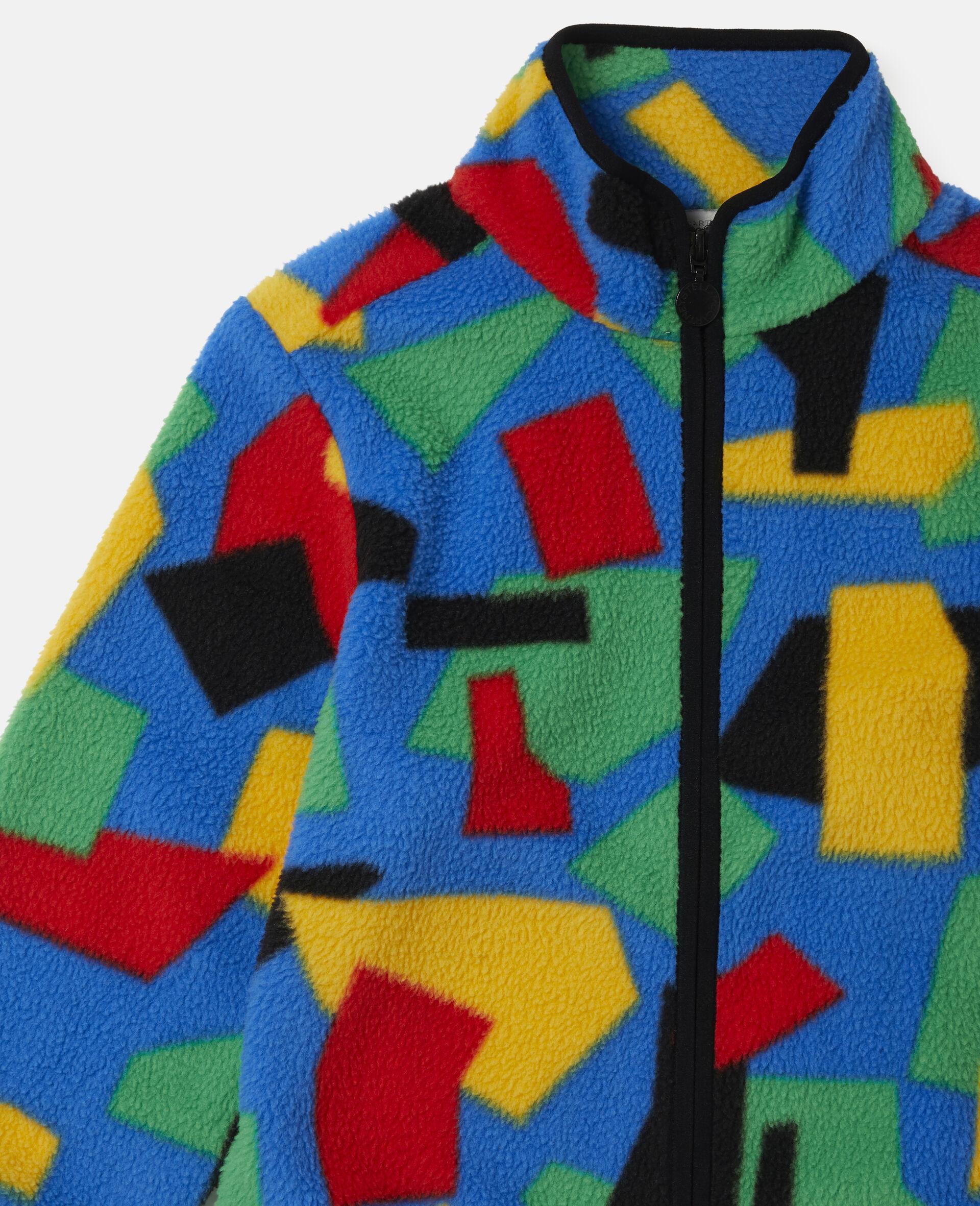 Colourblock Polar Fleece Ski Cardigan-Multicolour-large image number 1