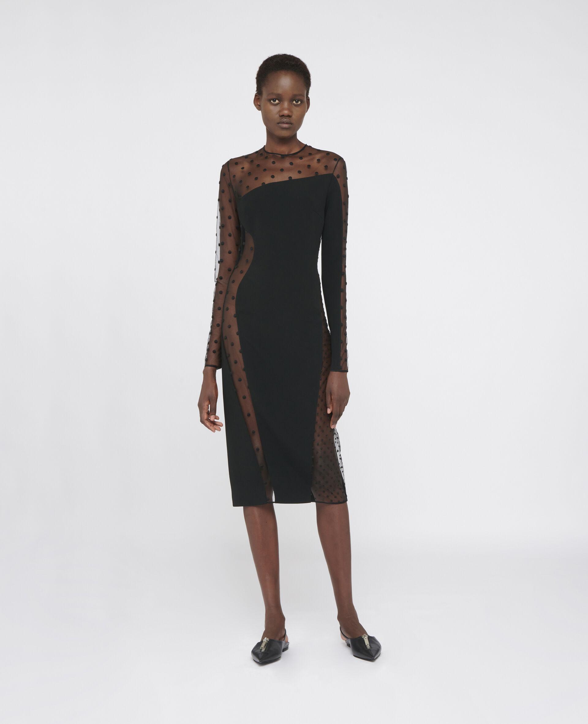 Robe de soirée Arielle-Noir-large image number 1