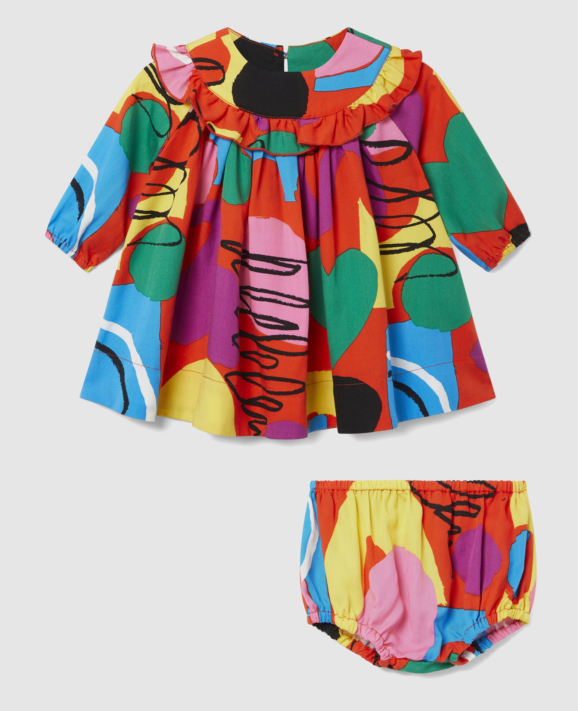 Painting Tencel Twill Dress-Multicoloured-large image number 0