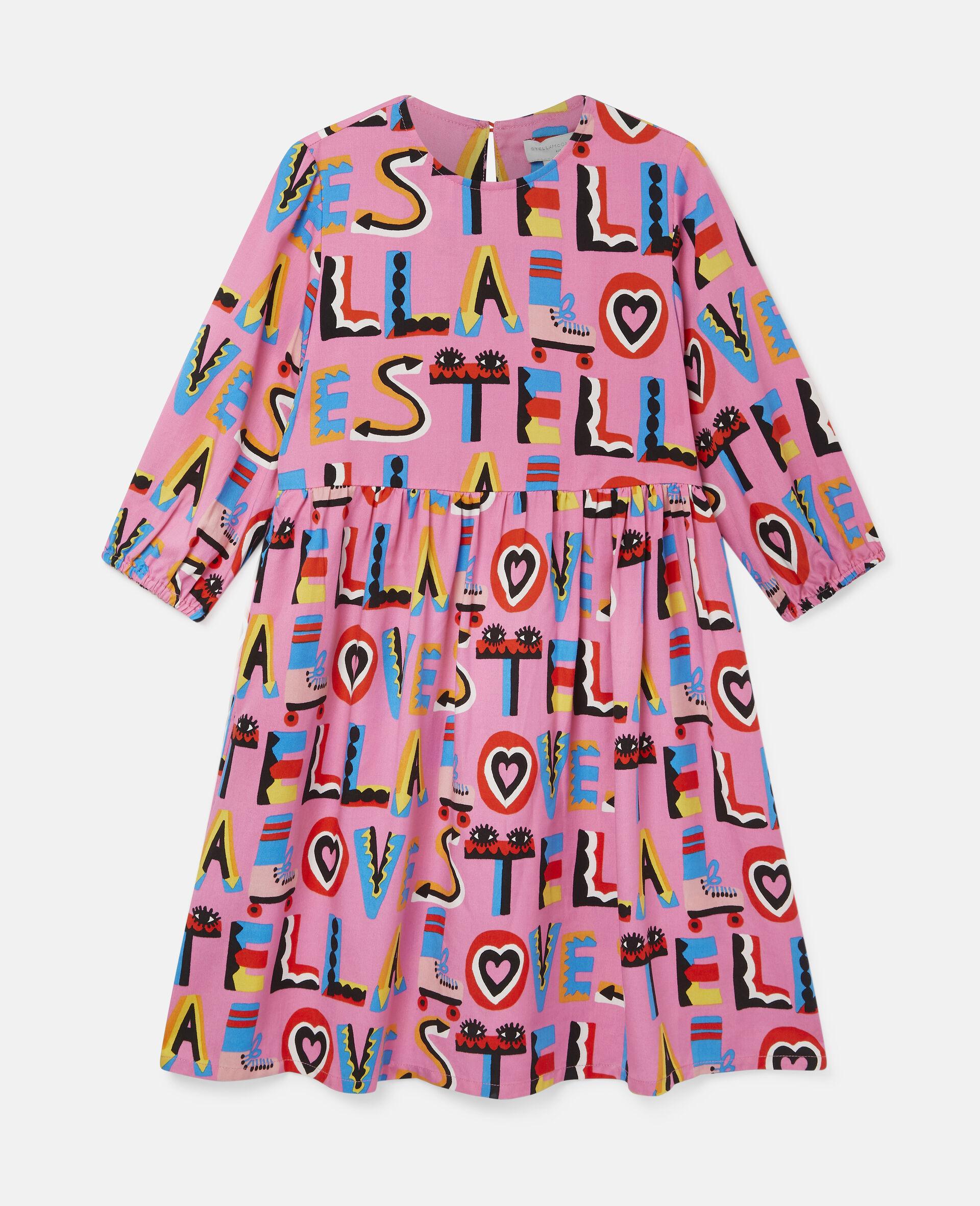 Stella Loves 印花斜纹布连衣裙-粉色-large image number 0