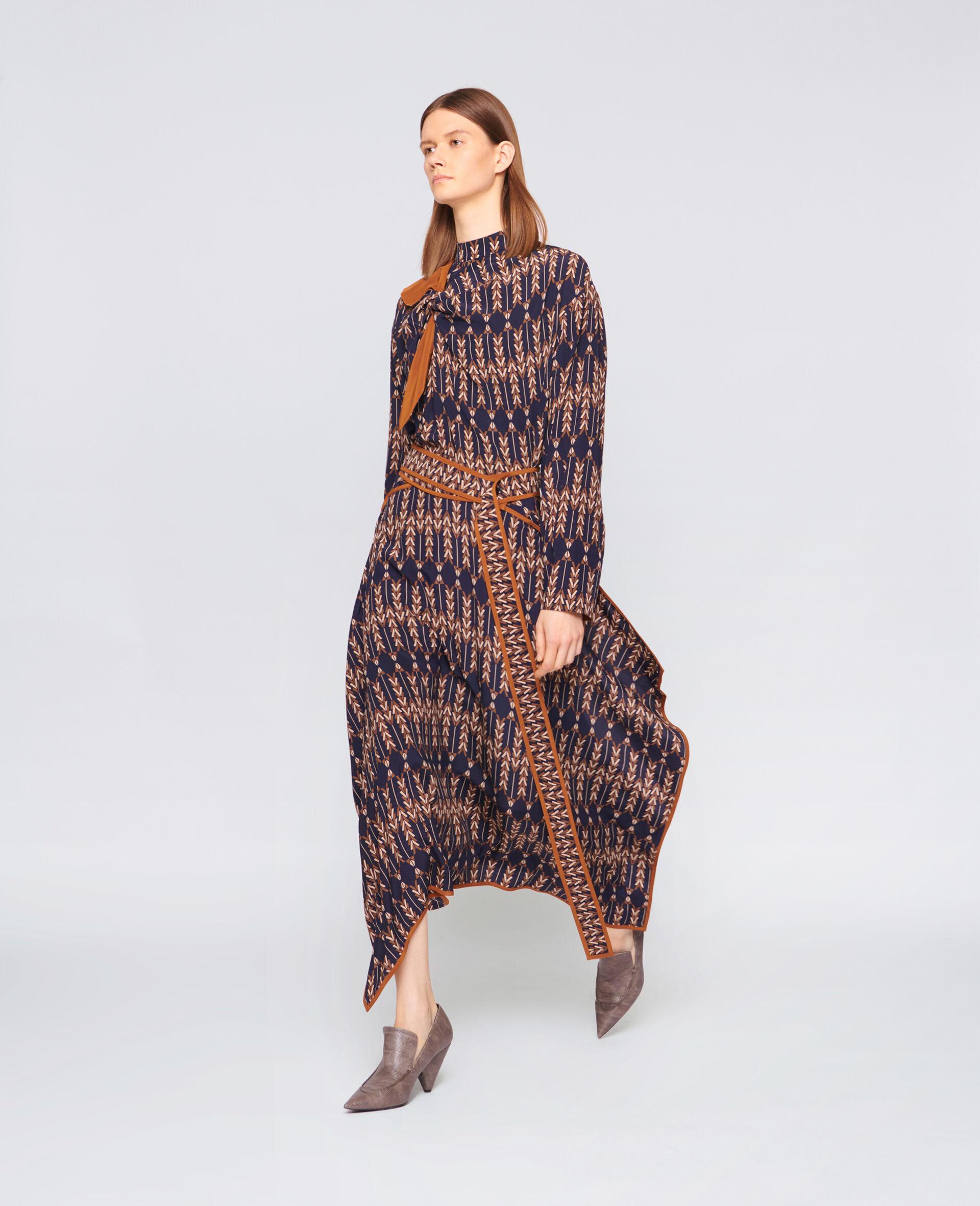 Norah Silk Skirt -Multicolour-large image number 1